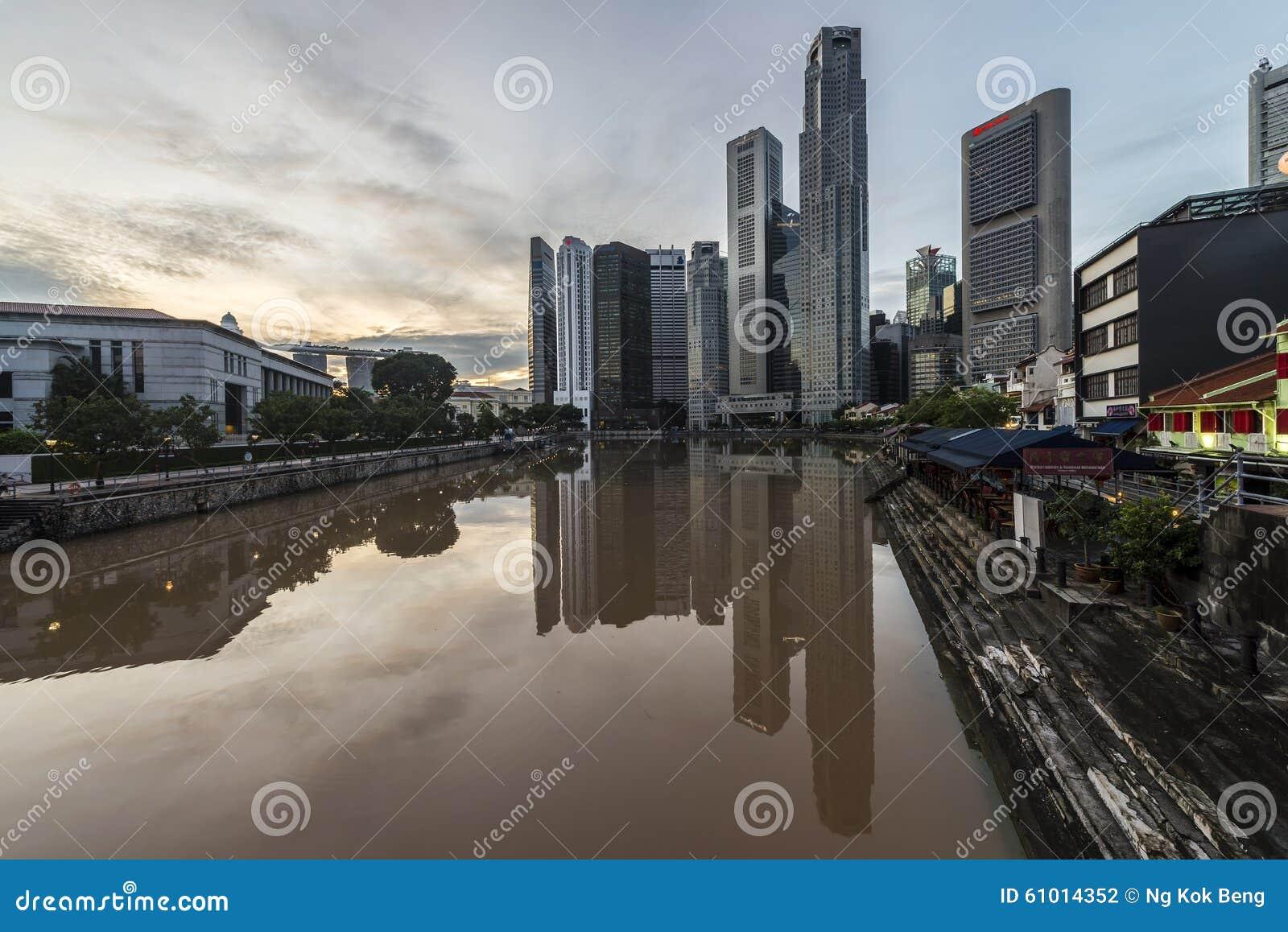 Bootkade in Loterijenplaats, Singapore