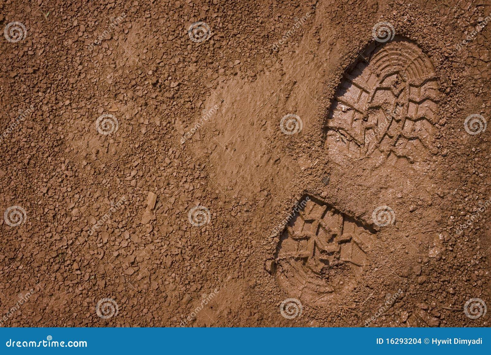 Bootprint on mud