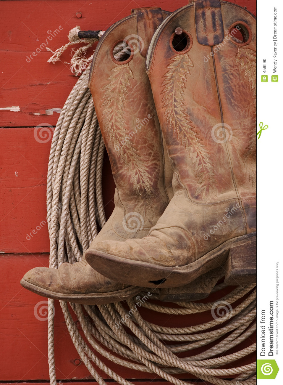boots and rope stock photo image of apparel leather