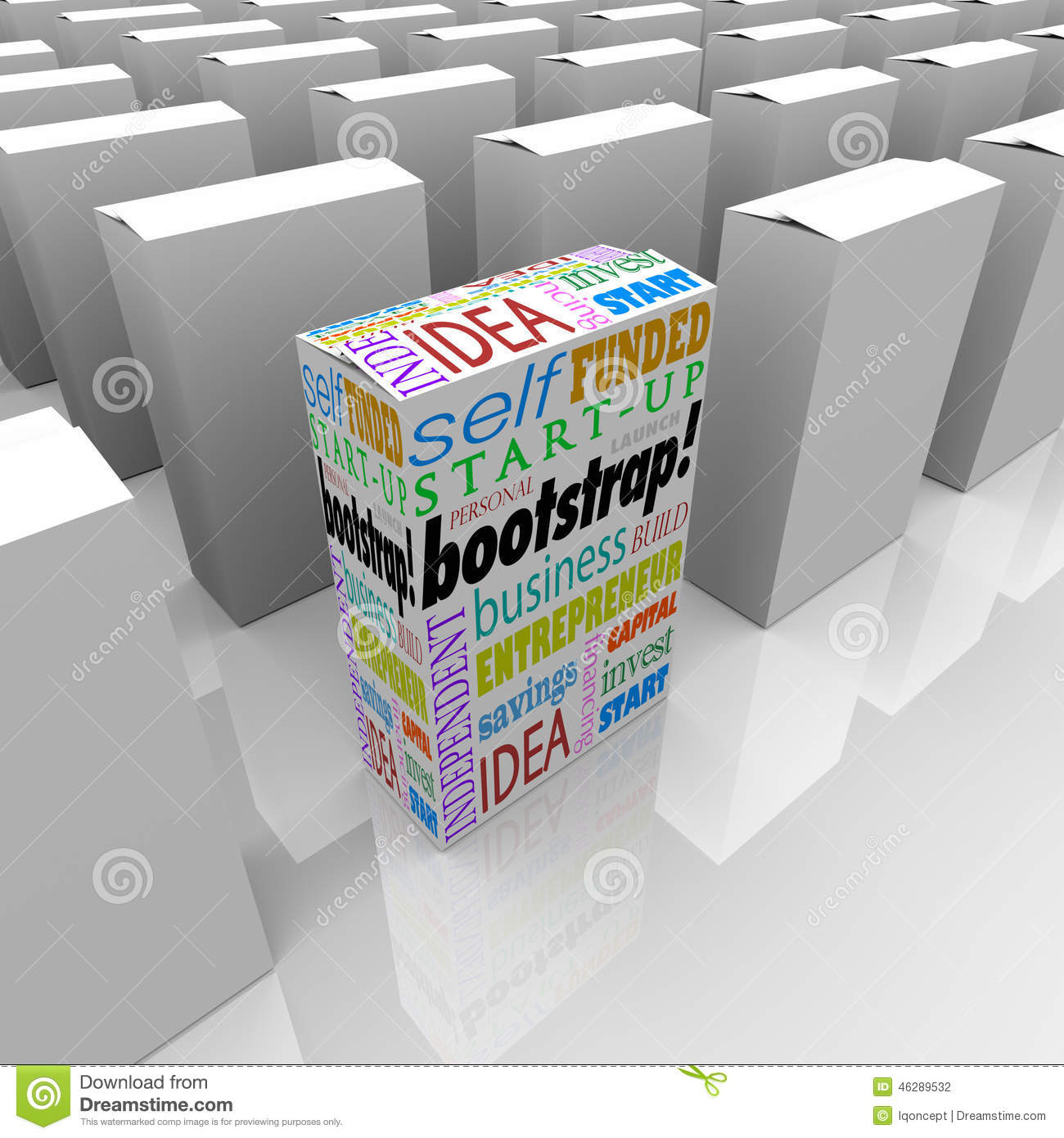 Bootstrap New Product Package Many Boxes Unique Self Funded Business