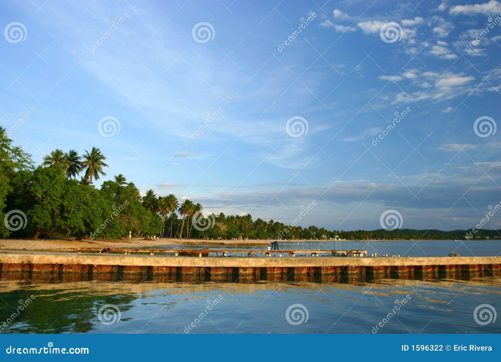 Boqueron Beach Pier At Puerto Rico Stock Photo Image Of
