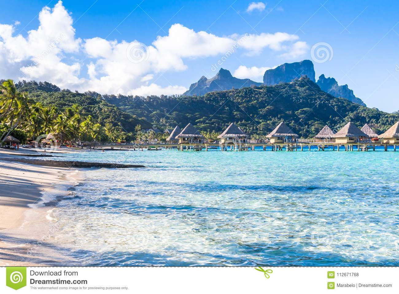 Bora Bora Island French Polynesia Editorial Stock Photo