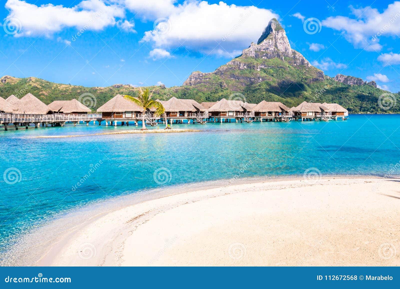 Bora Bora Island French Polynesia Stock Photo Image Of