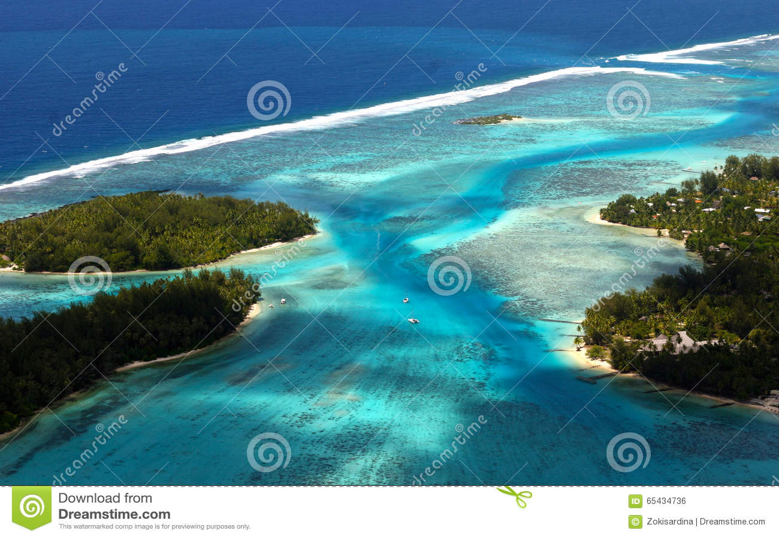 Bora Bora Tahiti Island d air
