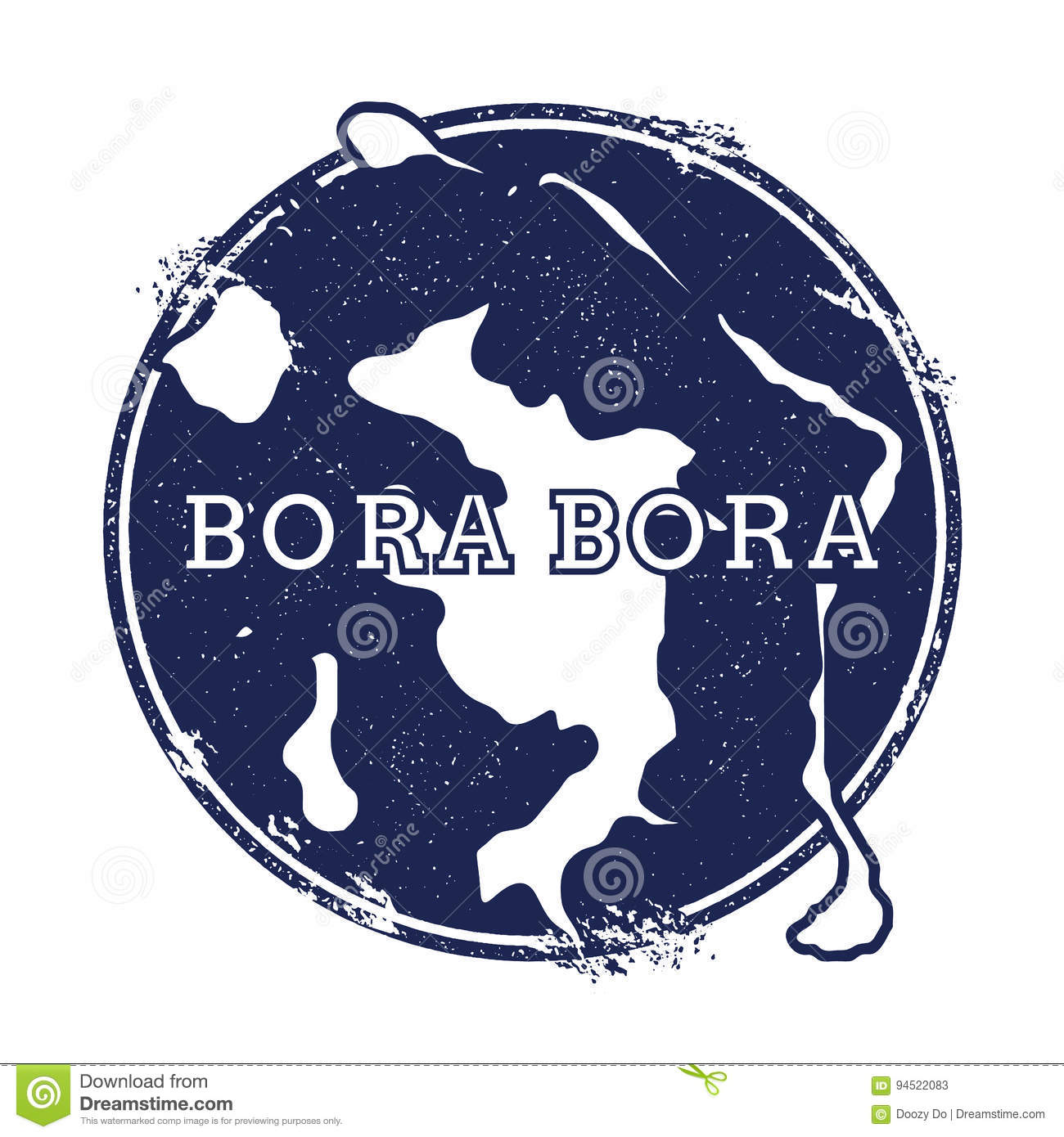 Bora Bora vector map. stock vector. Illustration of impress - 94522083