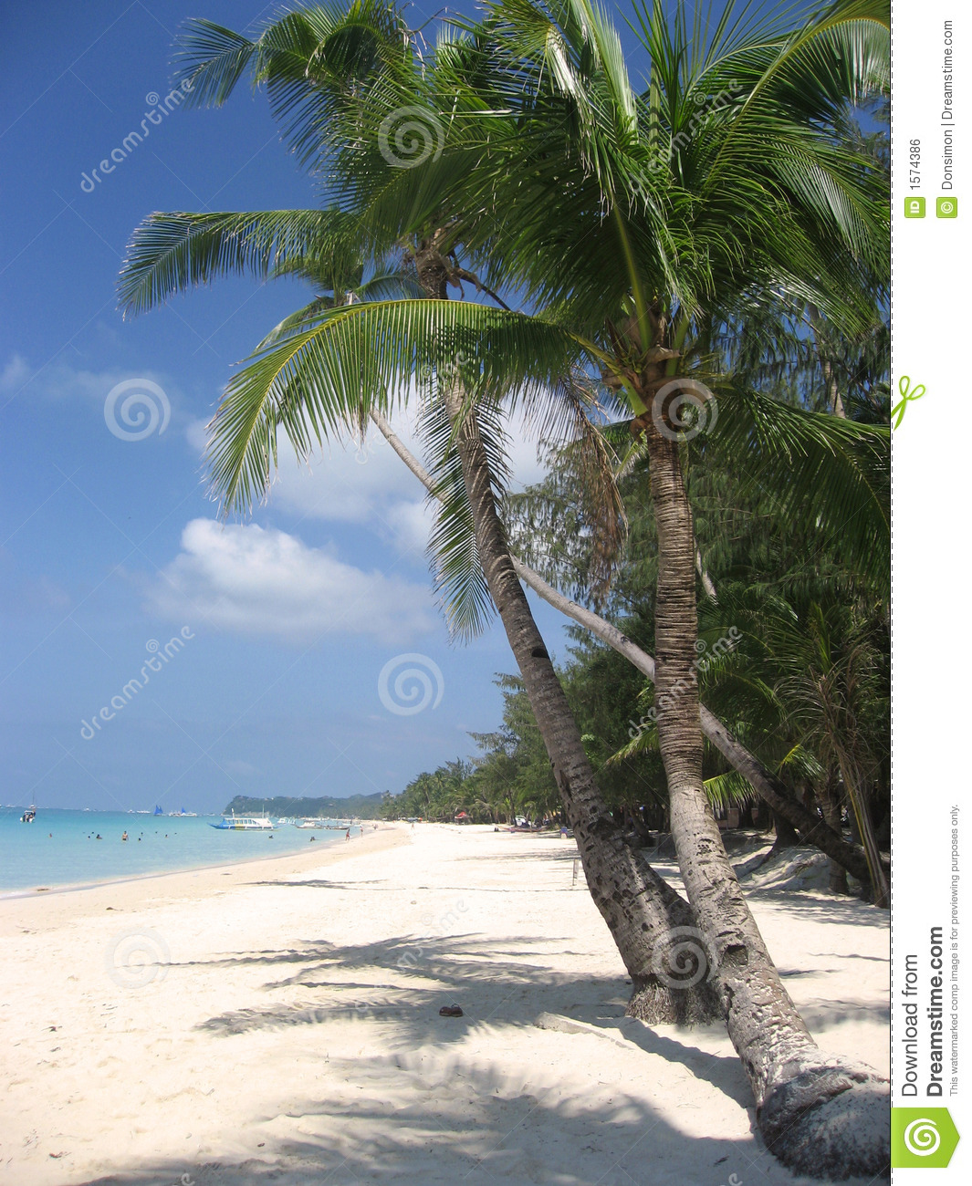 Boracay Beach: Boracay Beach Palm Trees Philippines Stock Photo