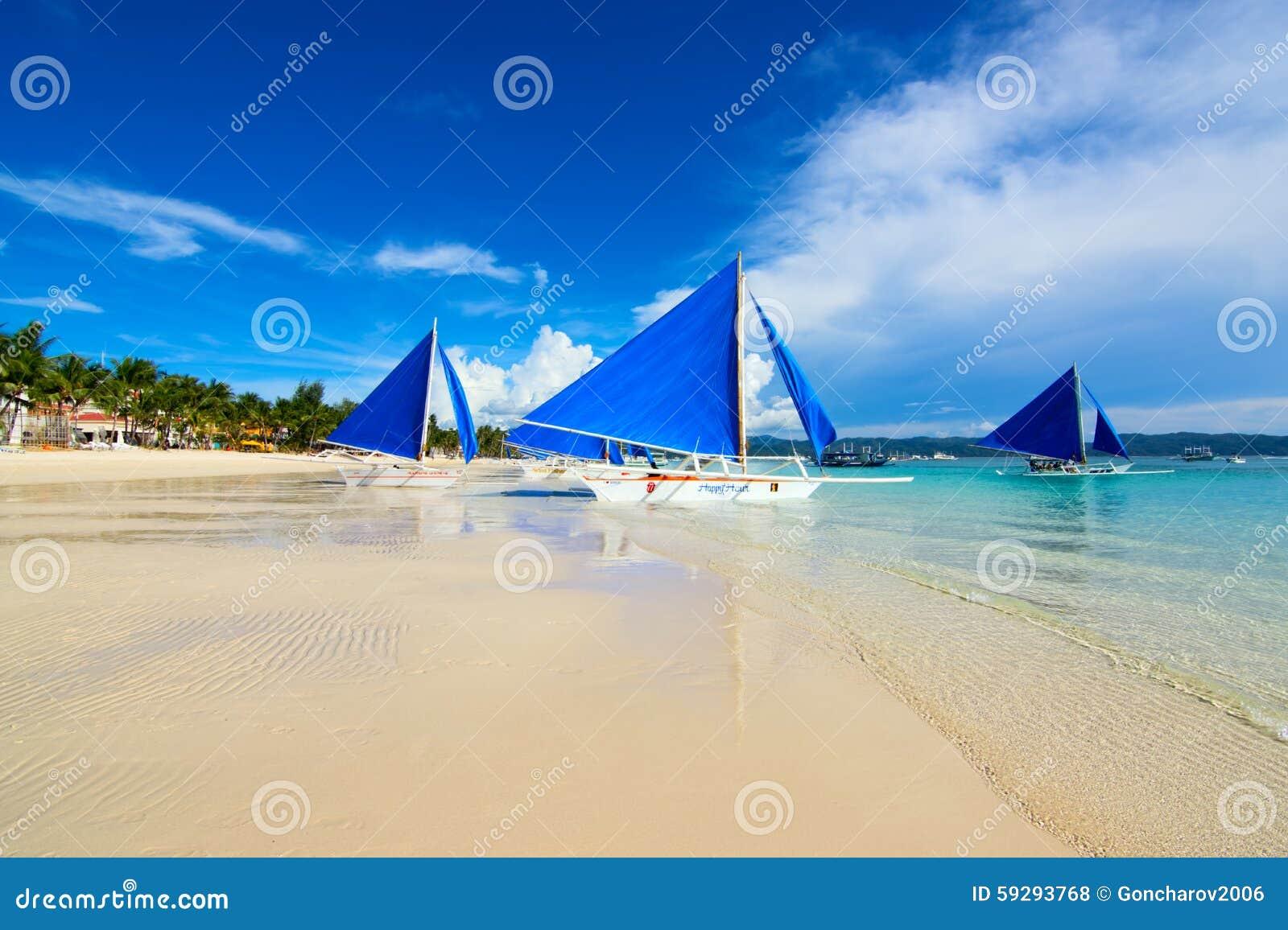 Boracay, Philippinen Weißer Strand