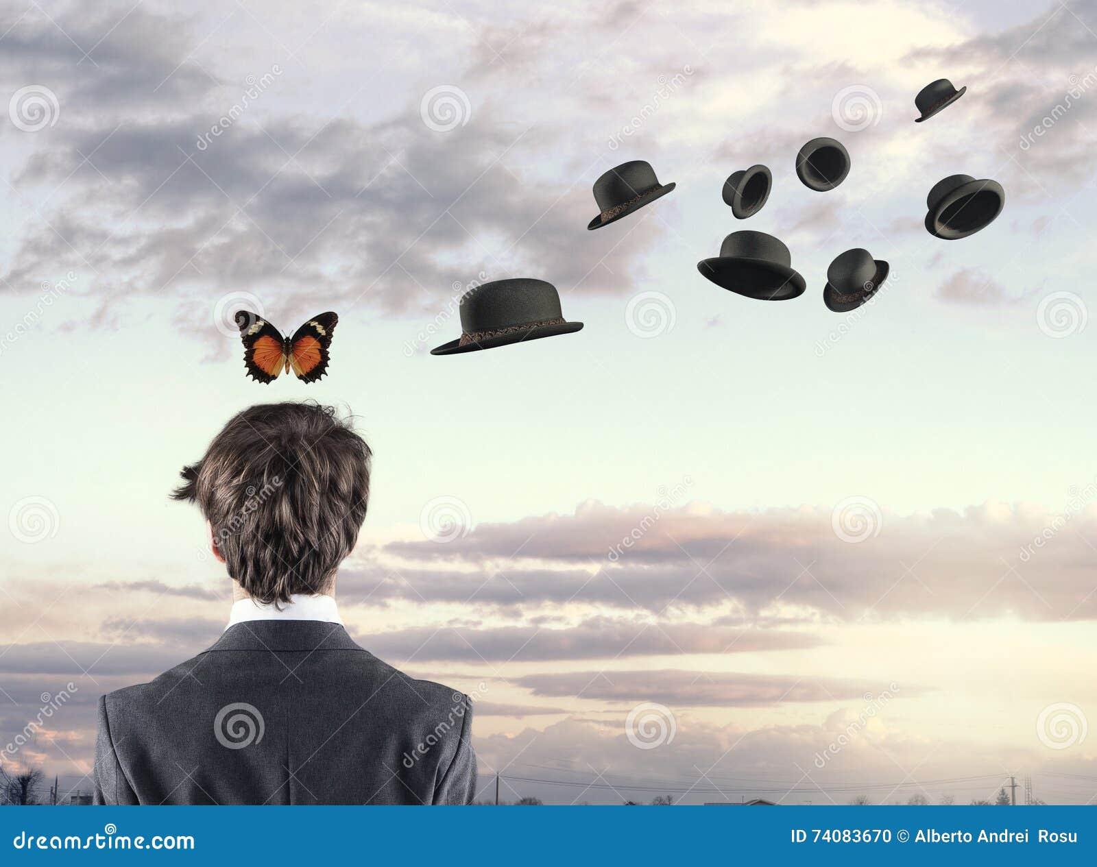 Borboleta e chapéus