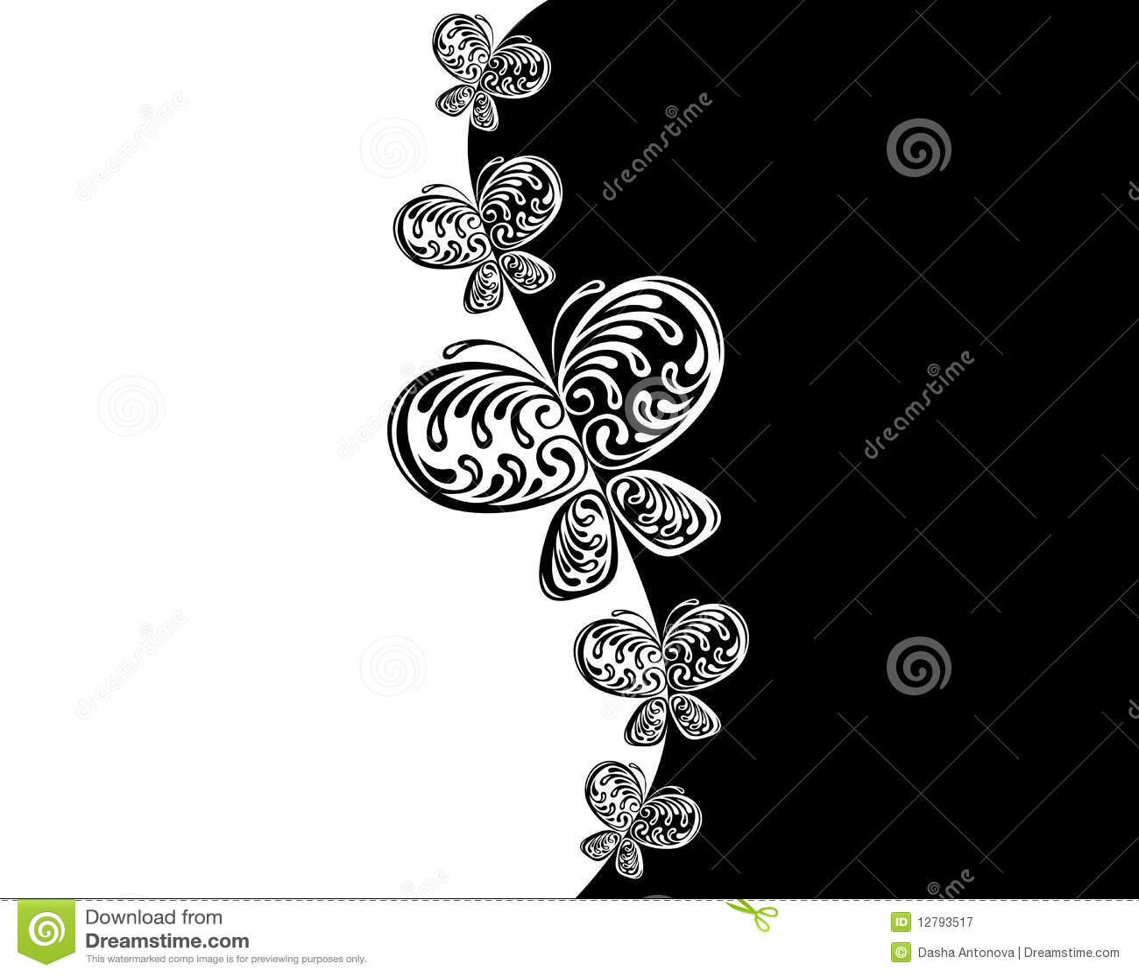 Borboleta preta do branco do â