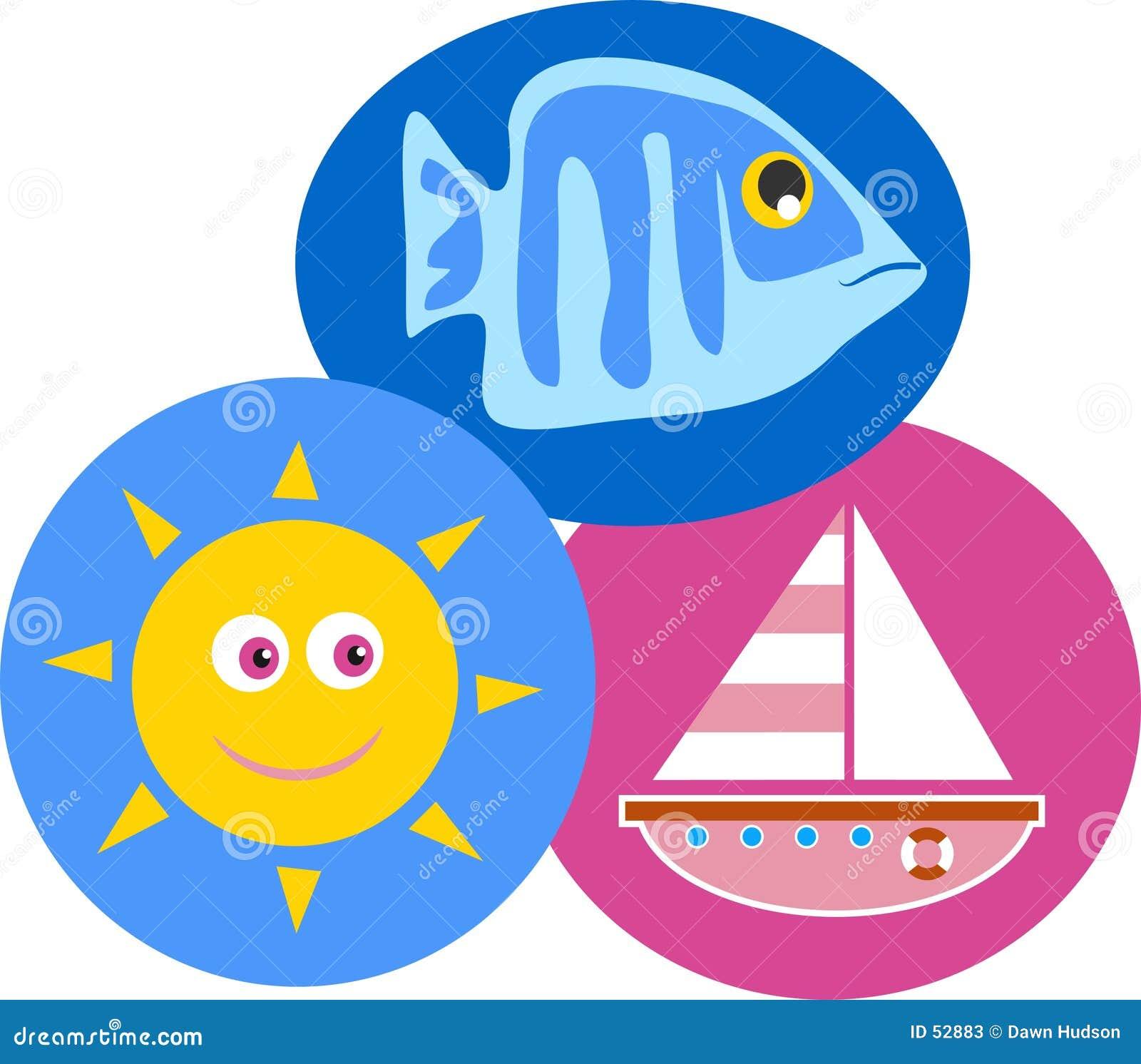 Download Bord de la mer illustration de vecteur. Illustration du places - 52883