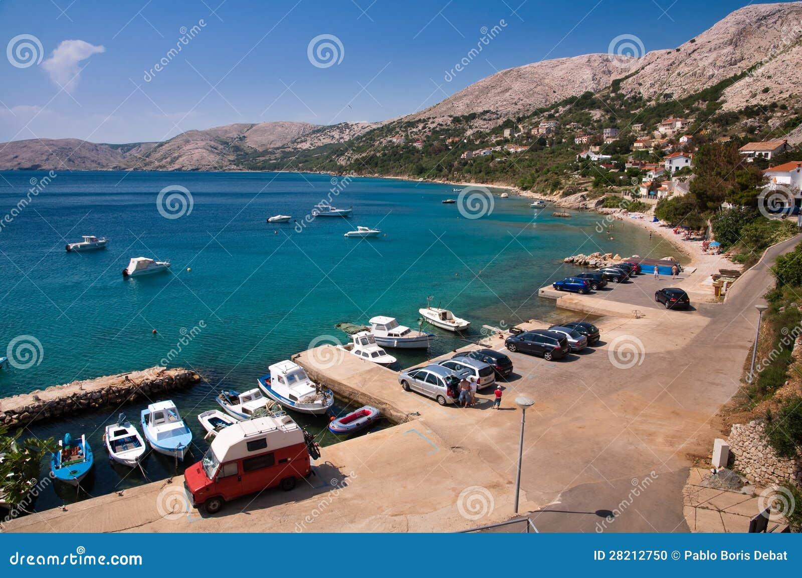 Bord de la mer chez Stara Baska dans Krk