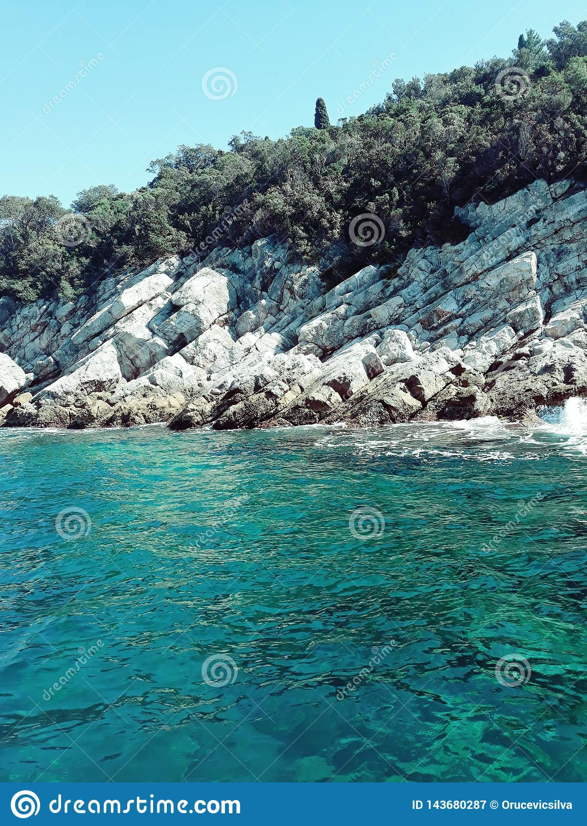 Bord de la mer dans Dubrovnik