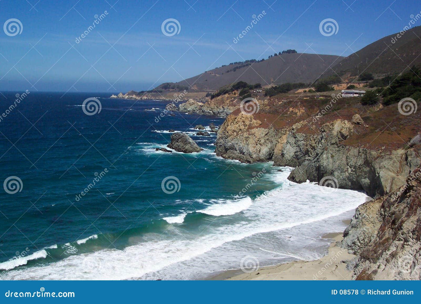Bord de la mer de la Californie