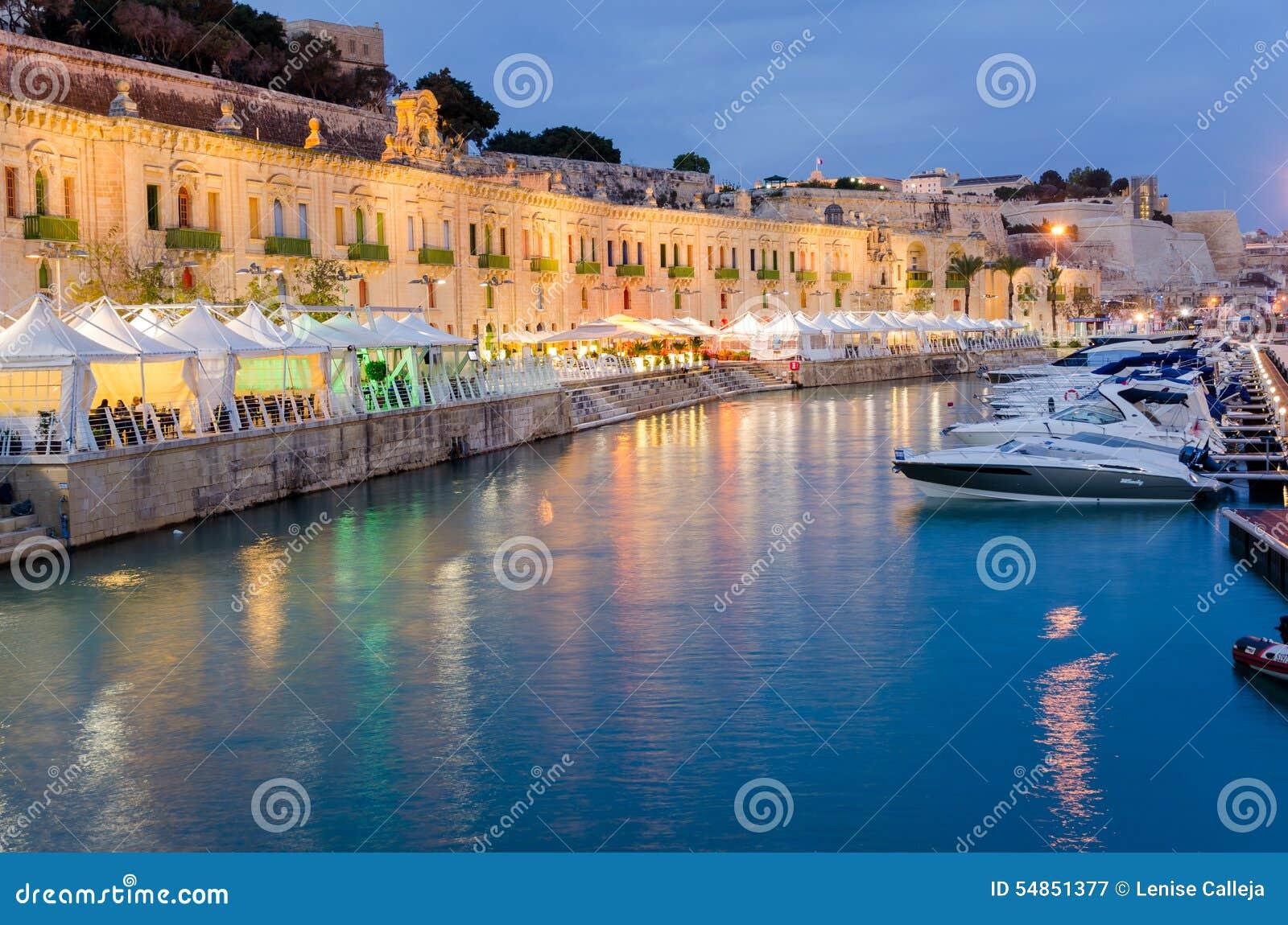 Bord de mer de La Valette à Malte