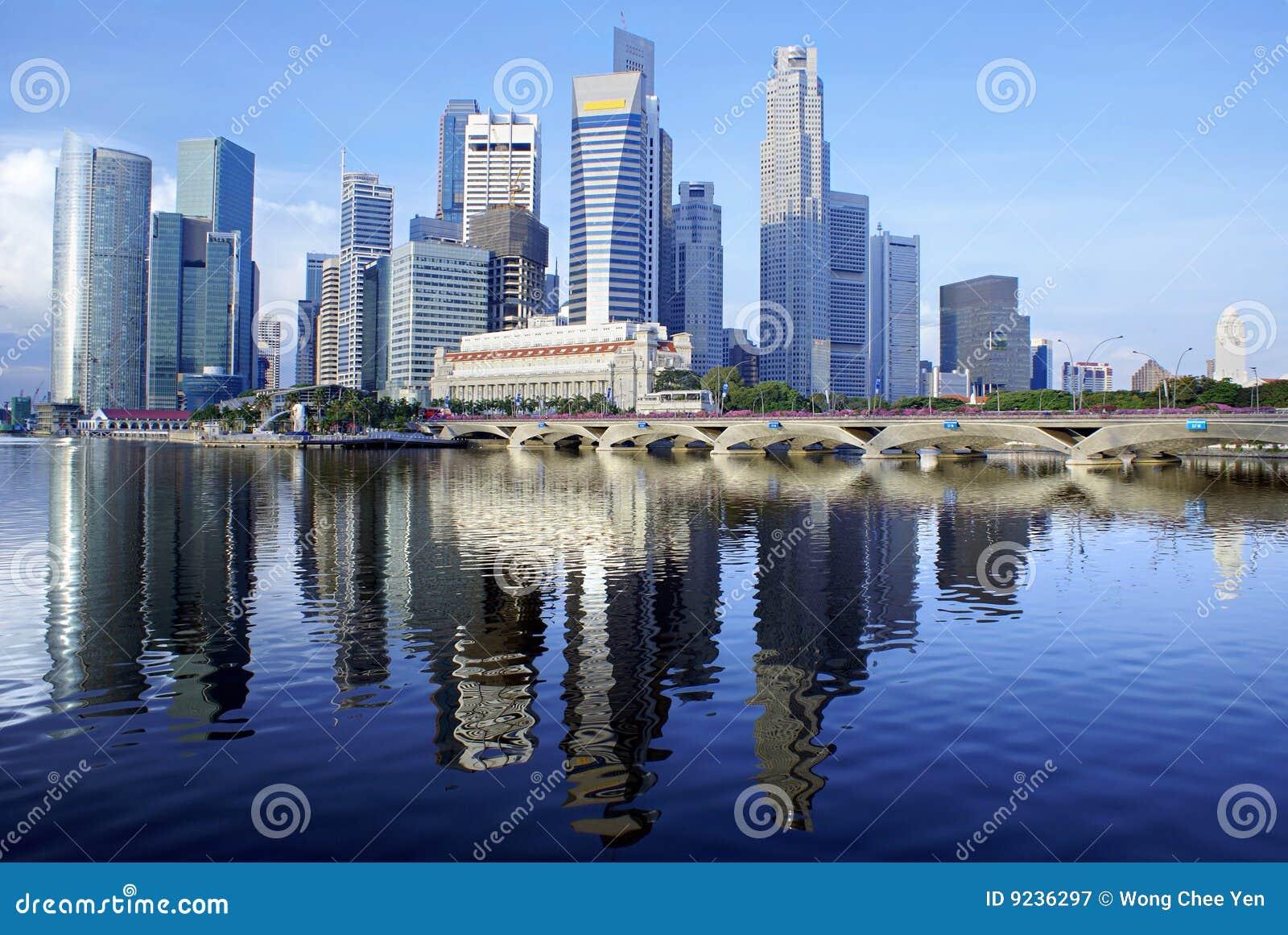 Bord de mer de singapour de ville image stock image 9236297 - Ville bord de mer mediterranee ...