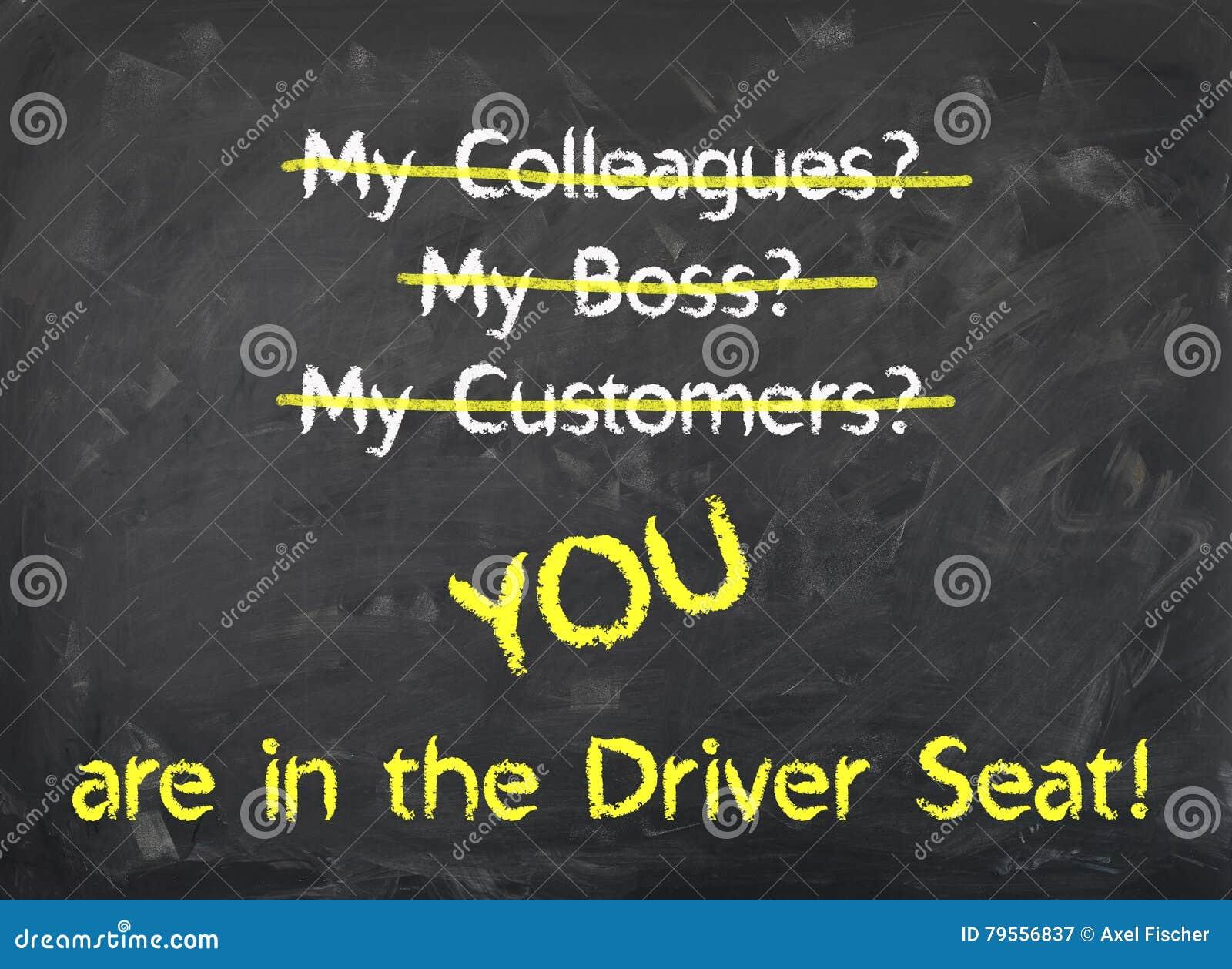 Bord - u bent in de Bestuurder Seat
