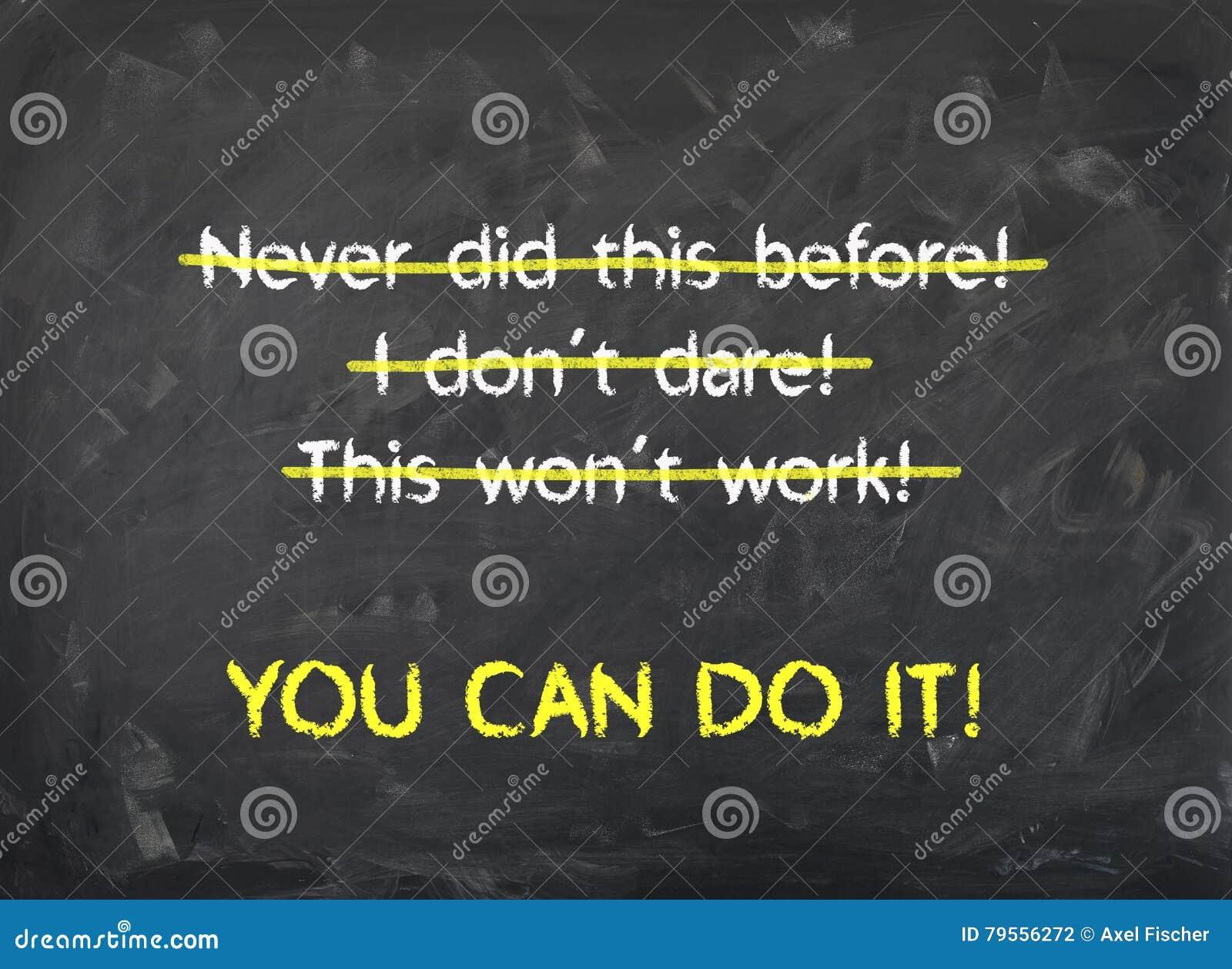 Bord - u kunt het doen - Motivatie