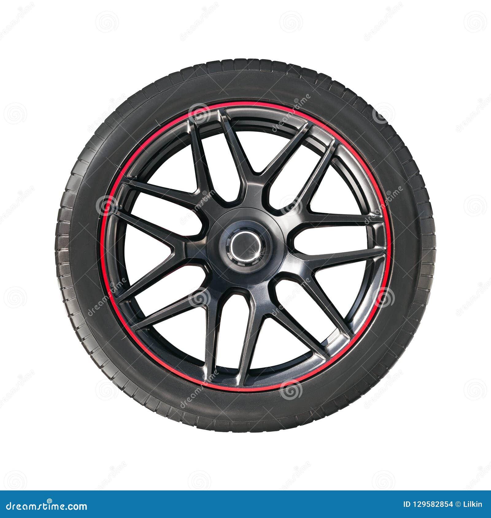 Borda da roda com pneu de borracha
