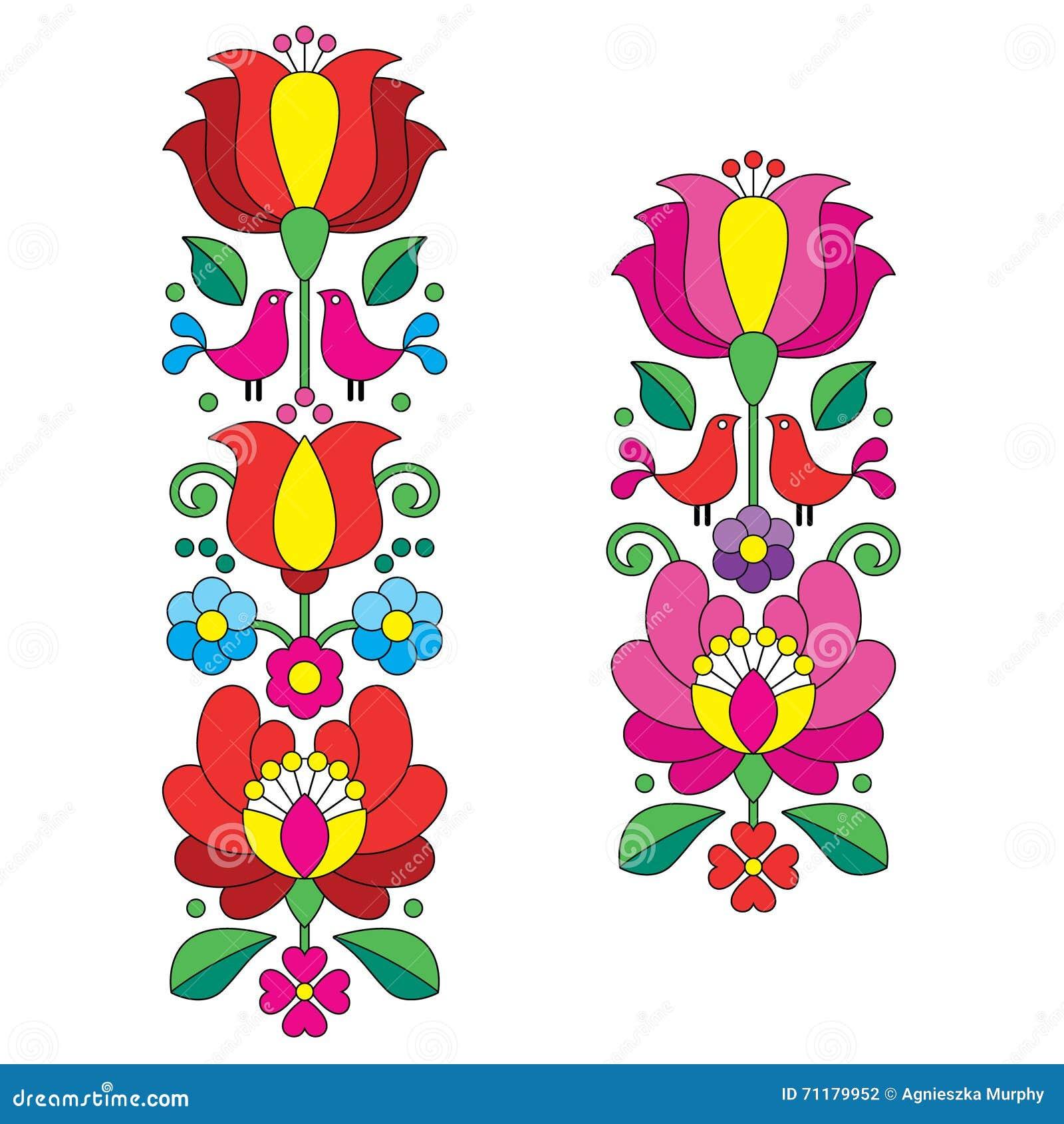 Bordado De Kalocsai - Modelos Largos Florales Húngaros Del Arte ...