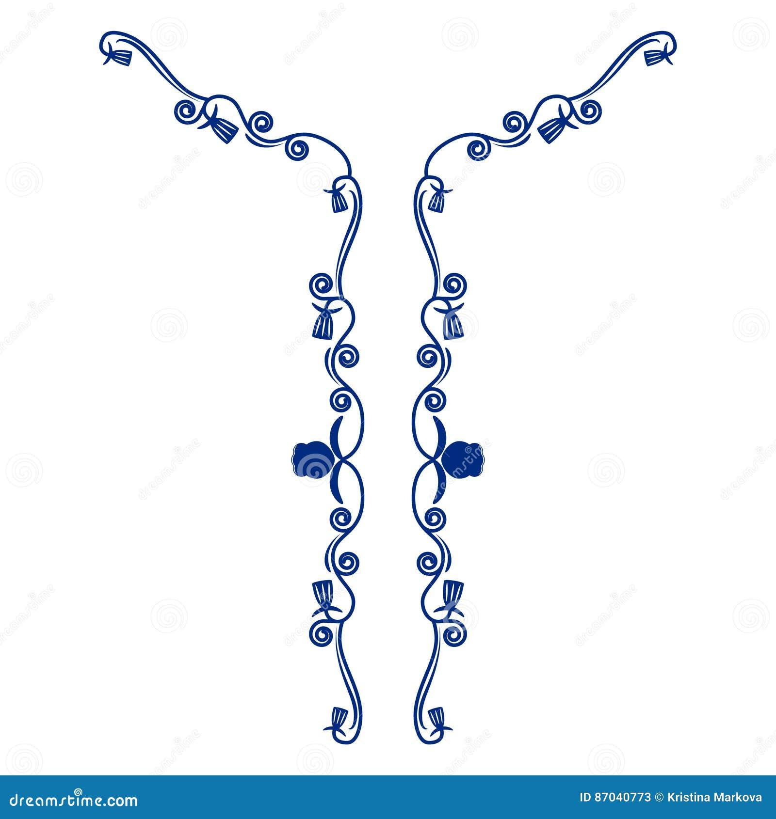 Bordado floral del cuello para la moda Línea étnica emb del cuello de las flores