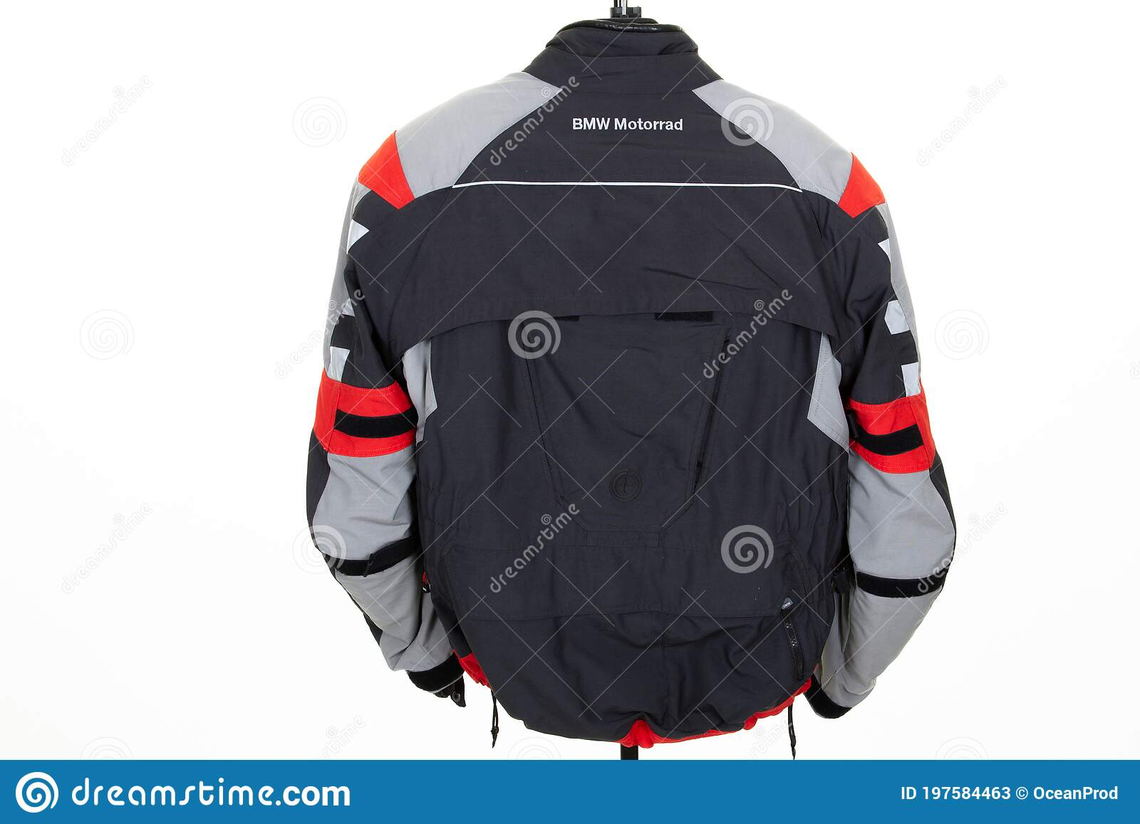 Bmw Motorrad Black Red And Grey Jacket Of Enduro Motorcycle In Back Rear View For Editorial Stock Photo Image Of Jacket Famous 197584463