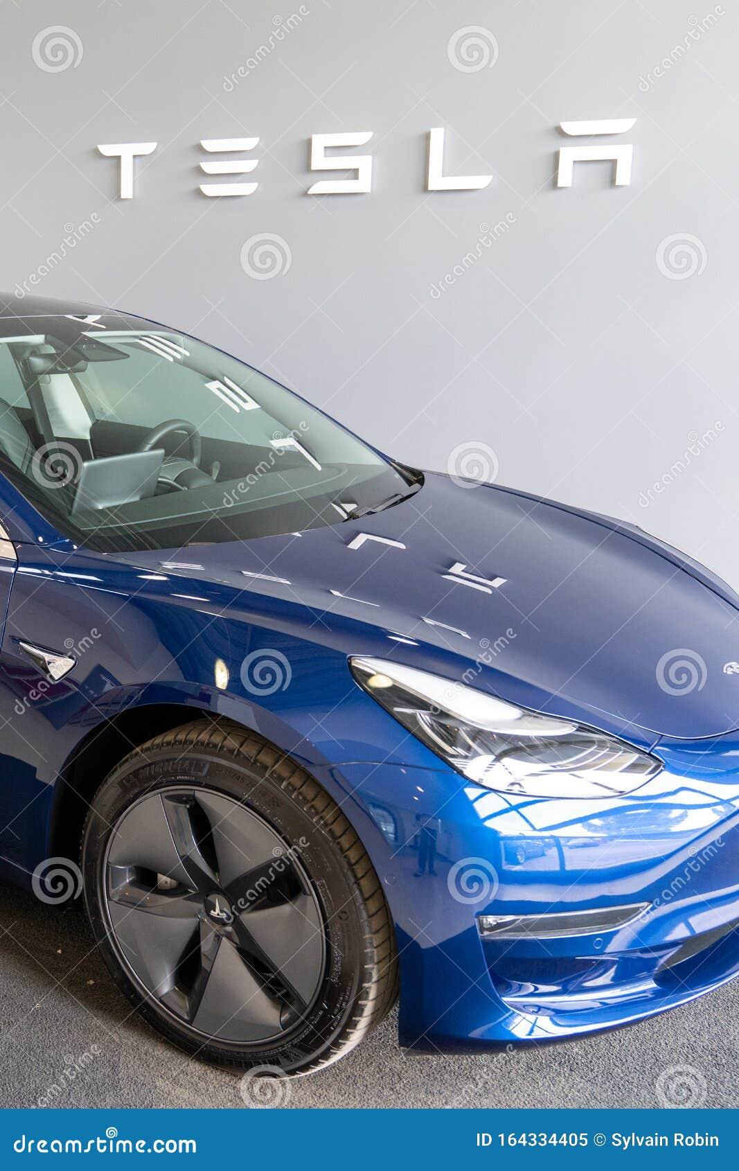 Bordeaux , Aquitaine / France - 11 18 2019 : Tesla Car ...