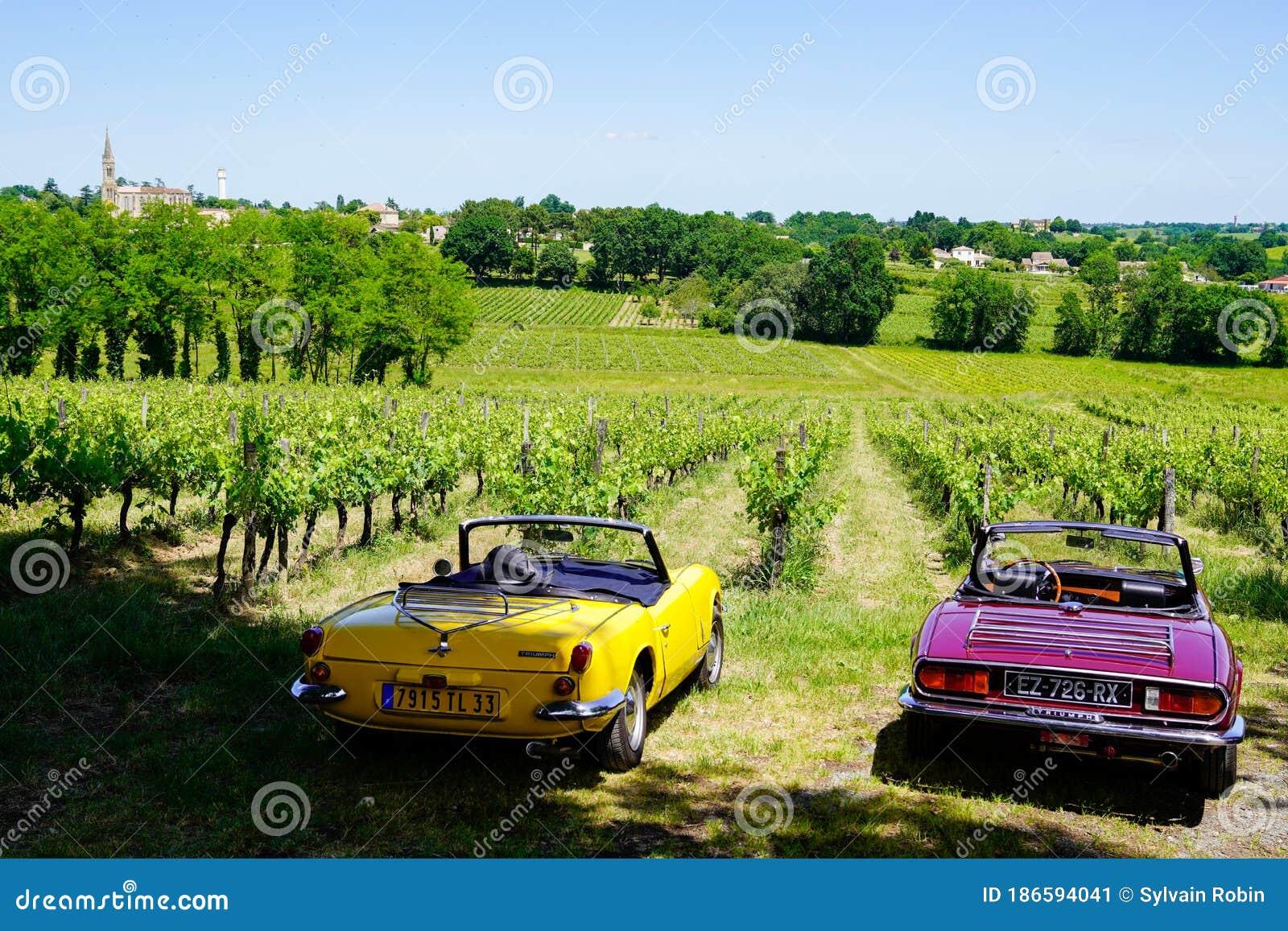 Bordeaux , Aquitaine / France - 06 01 2020 : Triumph Spitfire 1500 Vintage Car Model Parked In ...