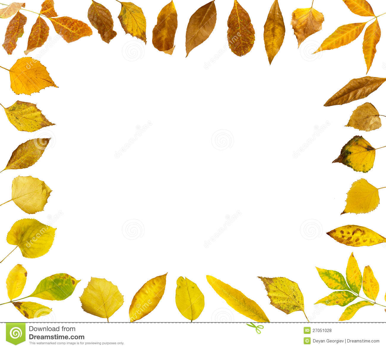 Border Of Autumn Leaves Royalty Free Stock Photos - Image ...