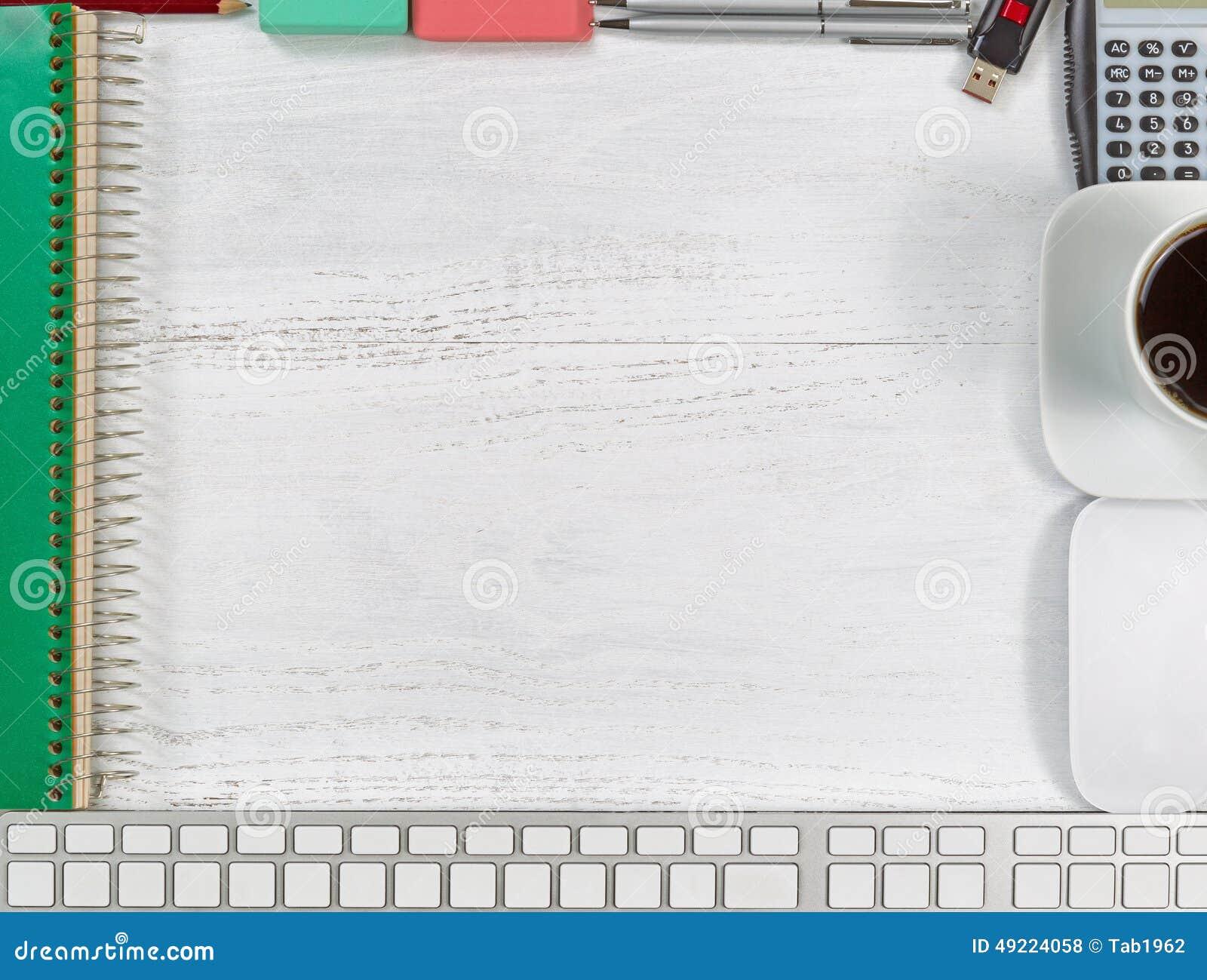 White Wood Computer Desk Custom Desk Plaque
