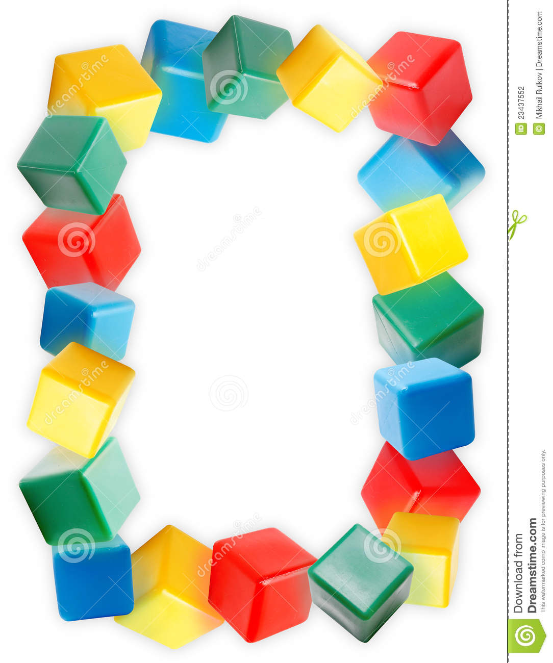 Border Of The Colorful Plastic Blocks Stock Photography - Image ...