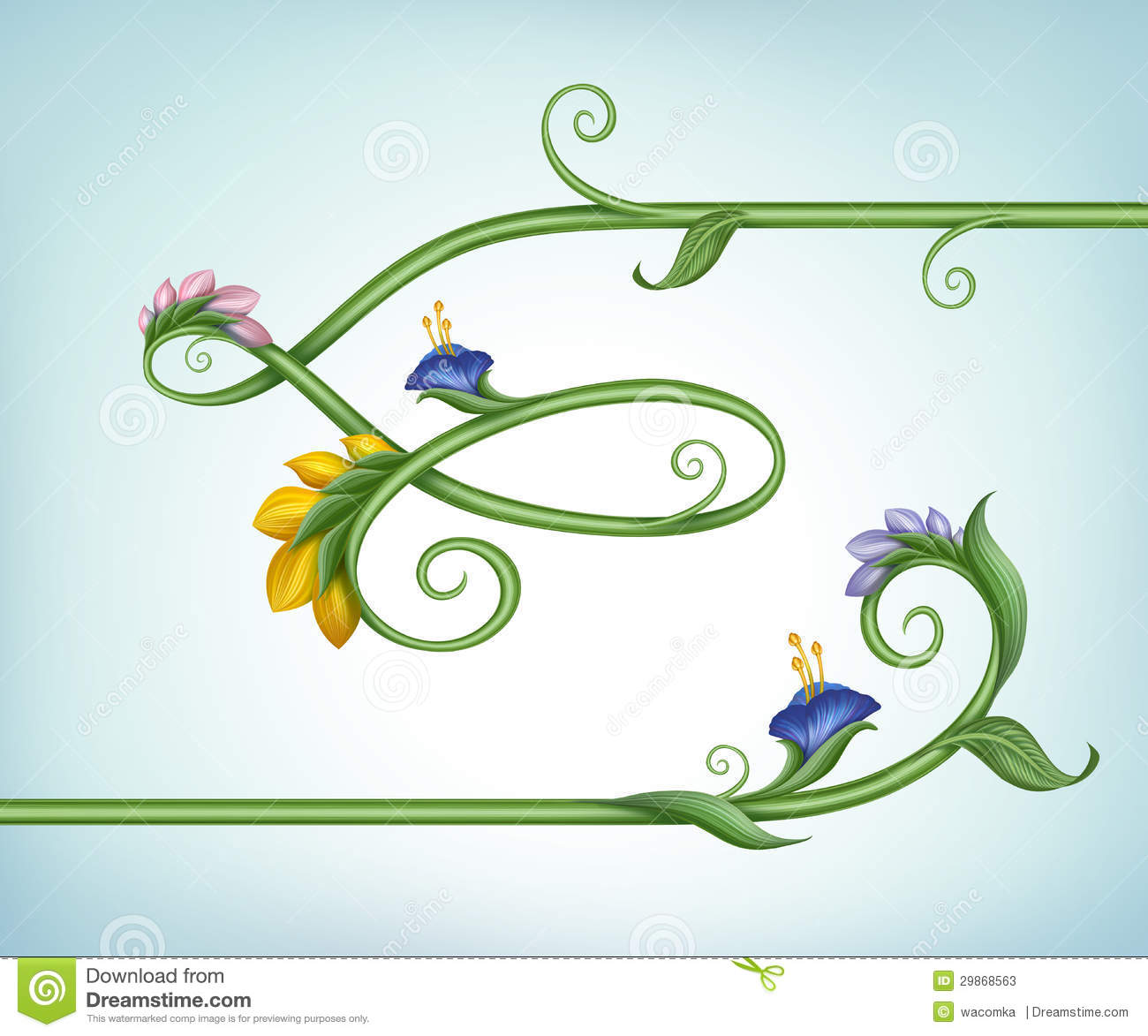 Green Leaf Border Line Frame border line with flowers