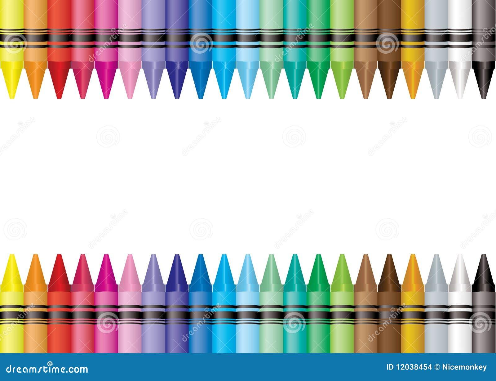 Border Crayon Stock Images Image 12038454