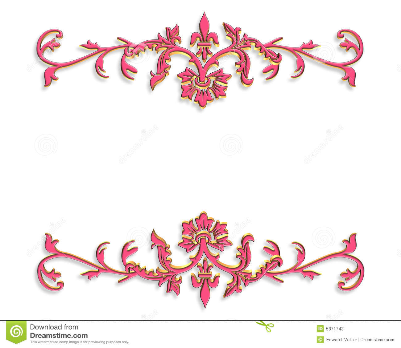 Border design 3d ornamental pink stock illustration illustration download border design 3d ornamental pink stock illustration illustration of digital card 5871743 stopboris Image collections