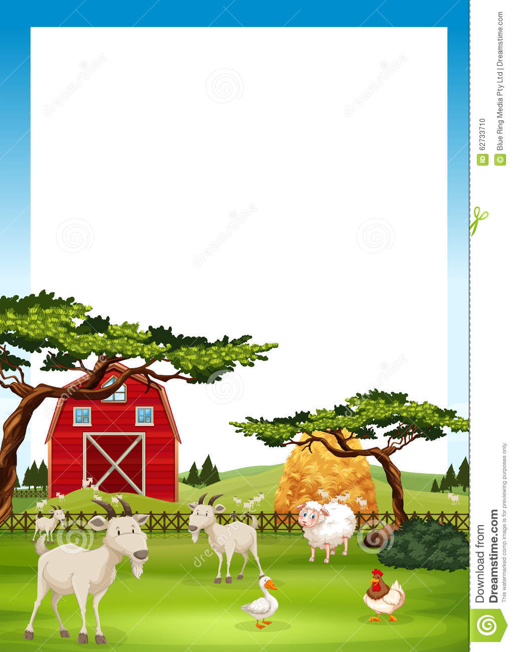 border design with farm animals stock vector image 62733710 clipart of farm animals 3-d clip art of farm animals printables