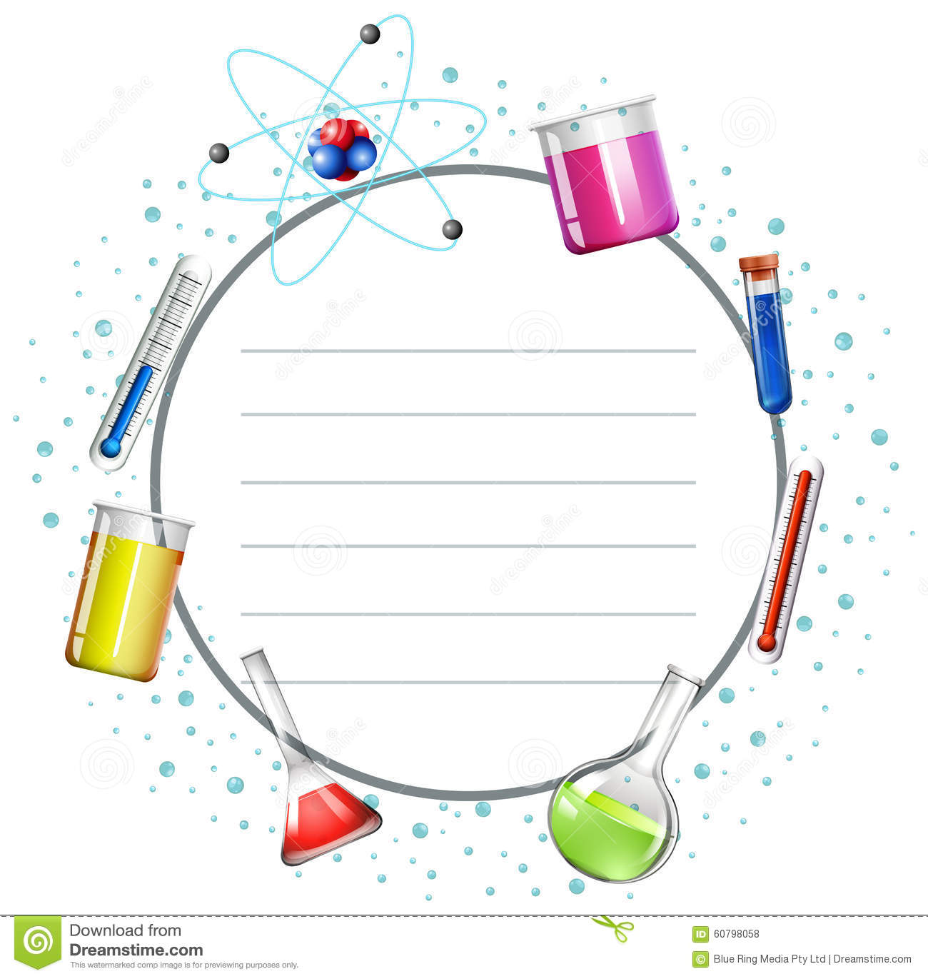 border design with science equipments stock illustration Page Borders Floral Border Clip Art