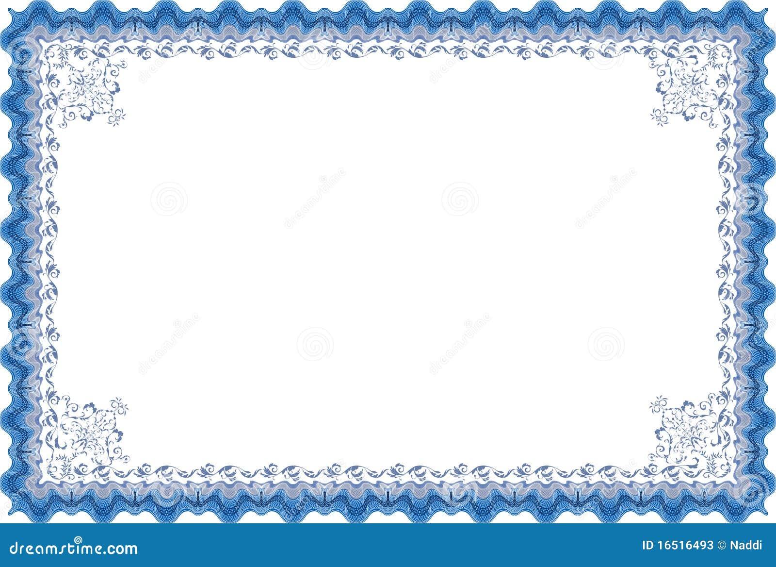 Border Diploma Or Certificate Stock Photos Image 16516493