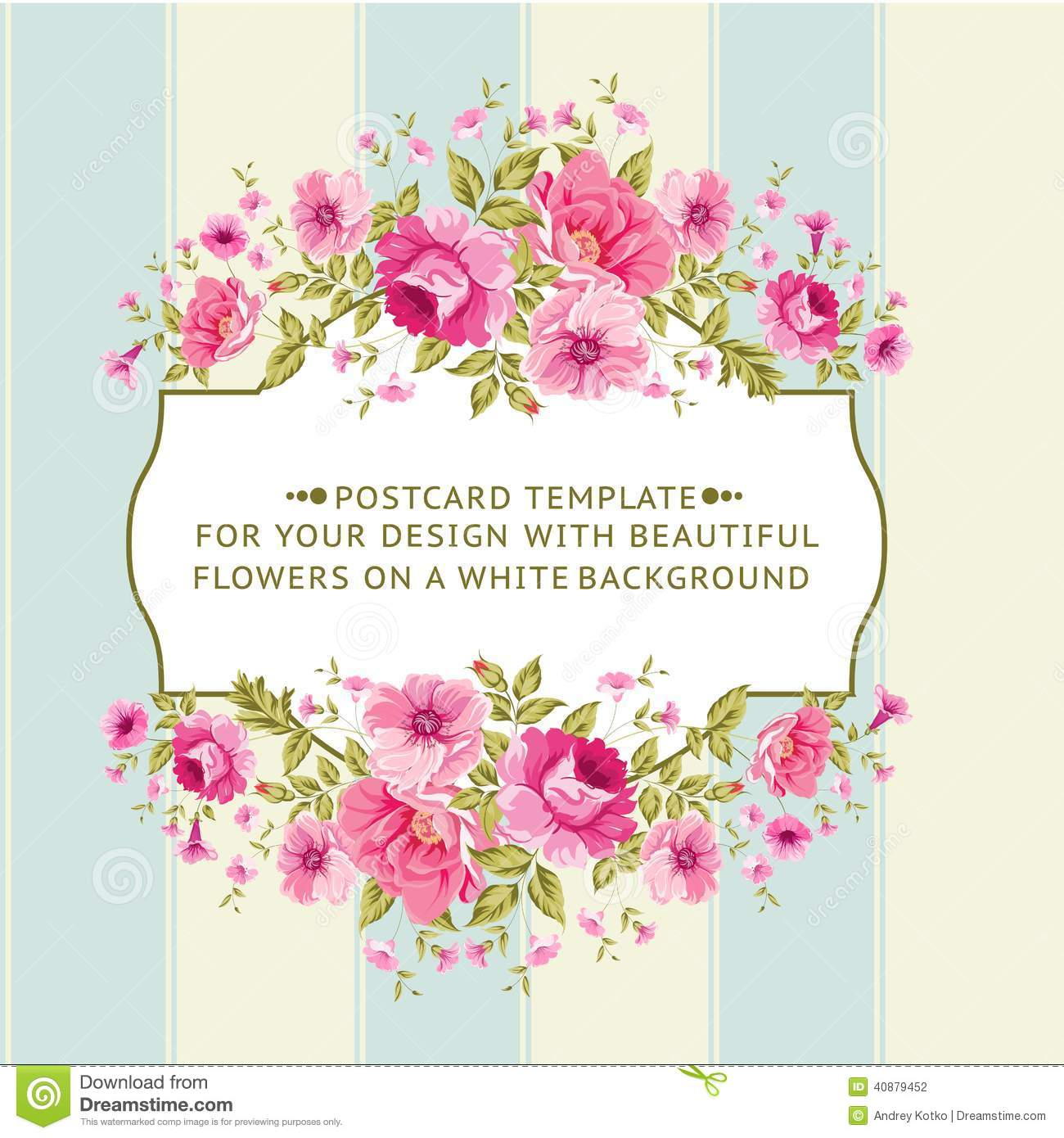 Group Of Floral And Vintage Borders