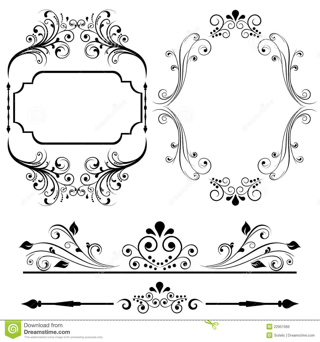 Border And Frame Designs Royalty Free Stock Image - Image: 22951066