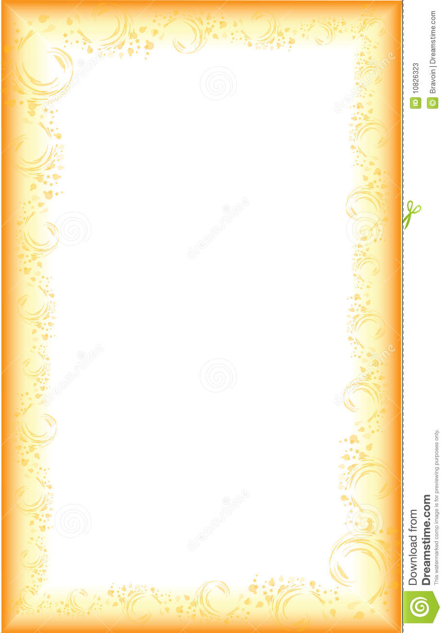 Colorful border with gradient flowers and lines. Extra area to add ...