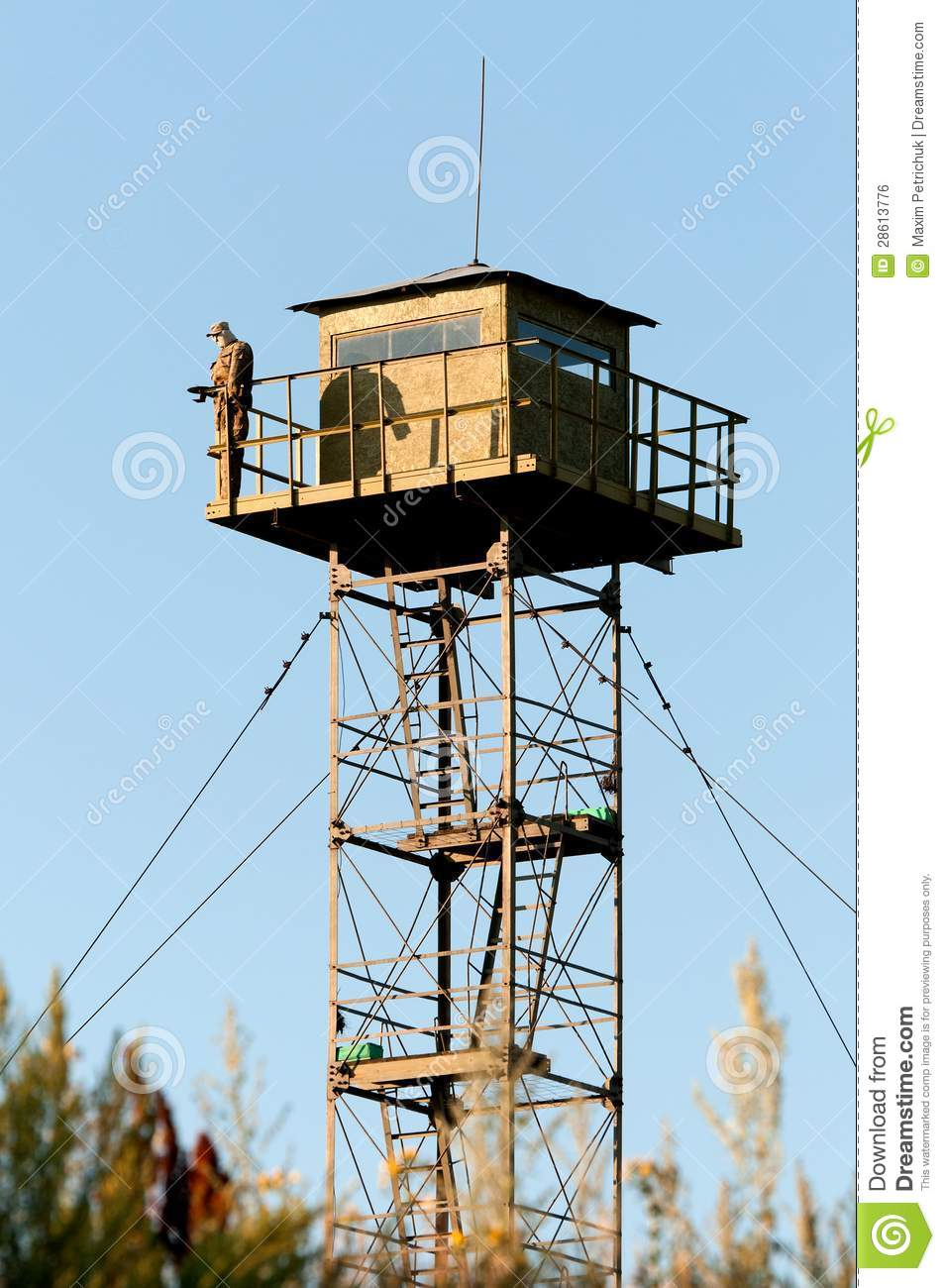 Border Guard Watchtower Stock Photo Image Of Building