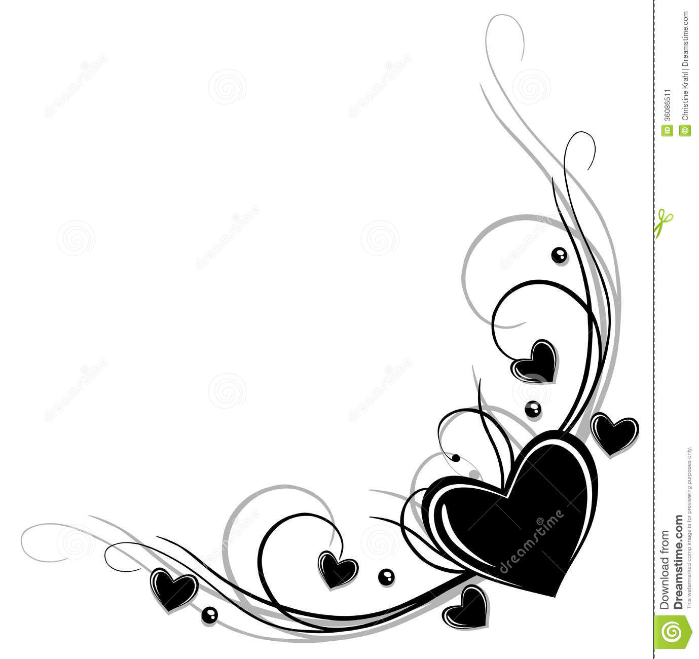 Border with hearts stock vector. Illustration of love ...