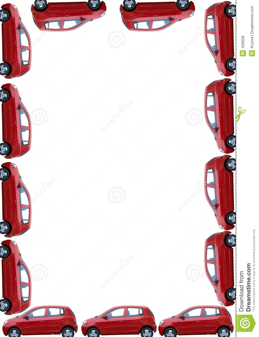 Border With Isolated Cars Royalty Free Stock Photos - Image: 426658