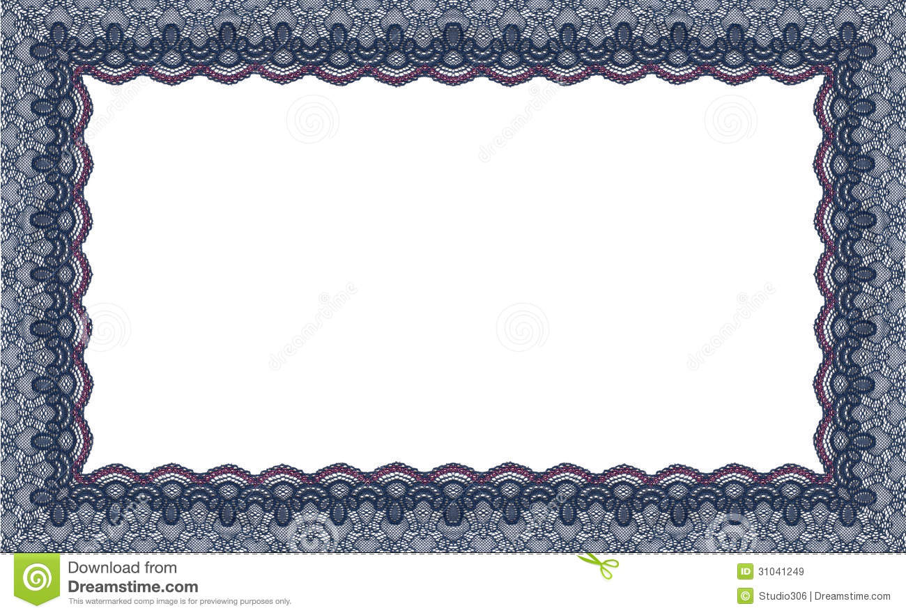 Border Lace Fabric Frame Isolate Royalty Free Stock Images ...