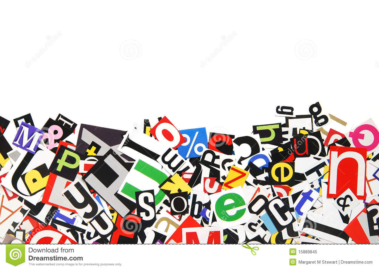 Border of letters