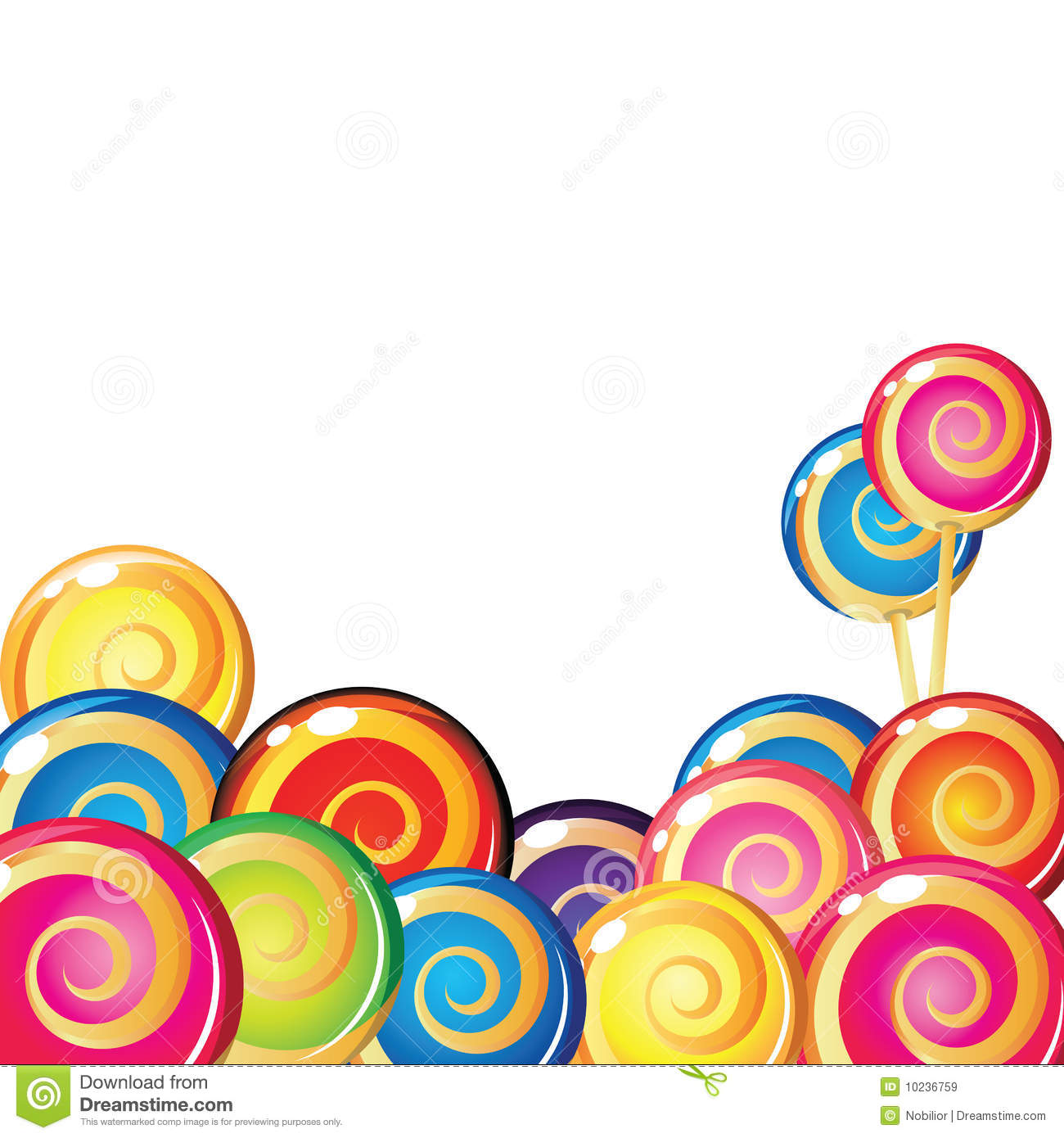 border of lollipop royalty free stock images image