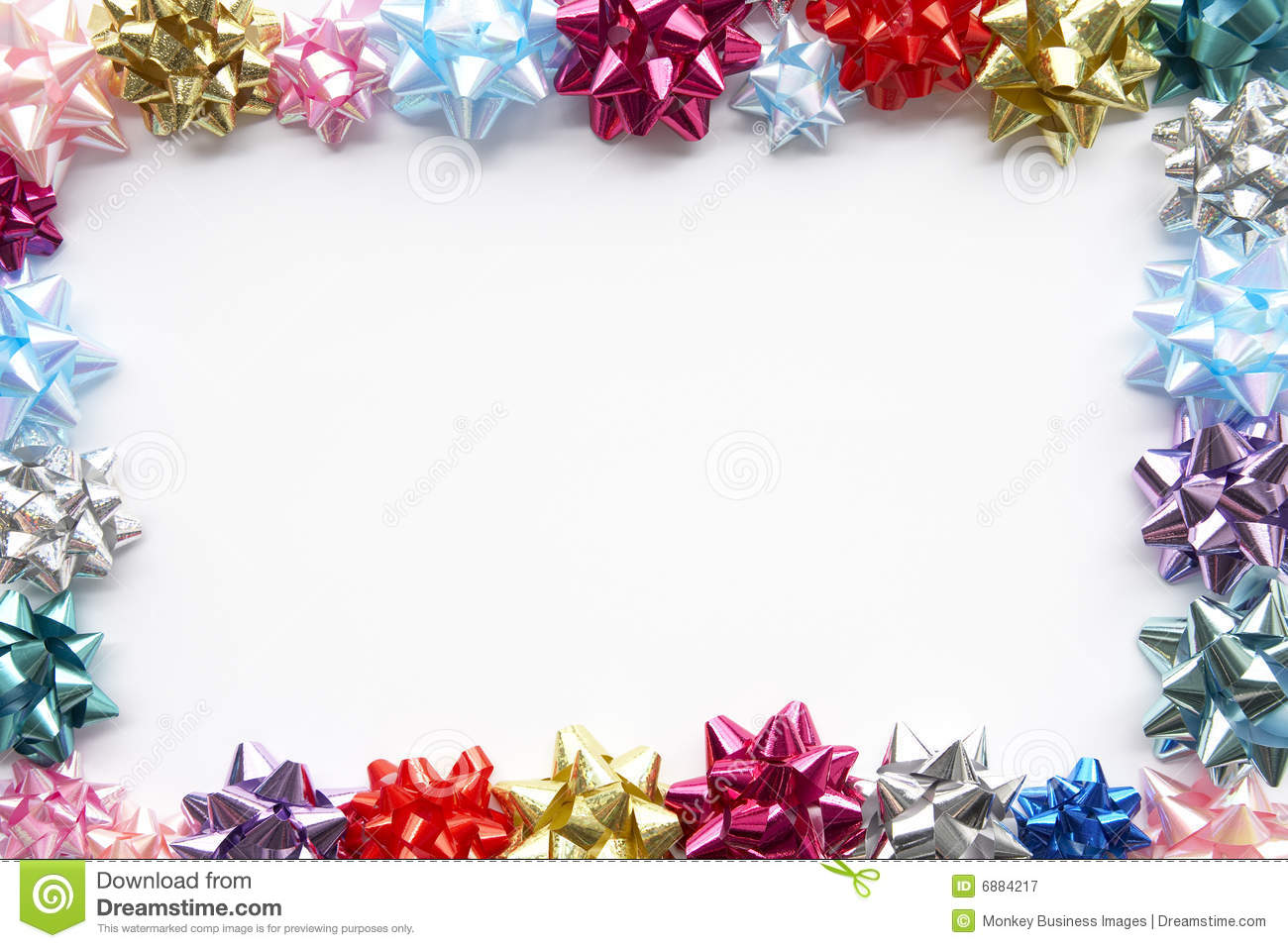 Gift Bows Border Royalty Free Stock Photo - Image: 1244175