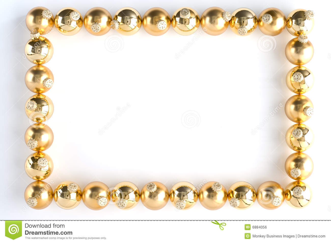 Border Made From Gold Baubles Royalty Free Stock Image ...