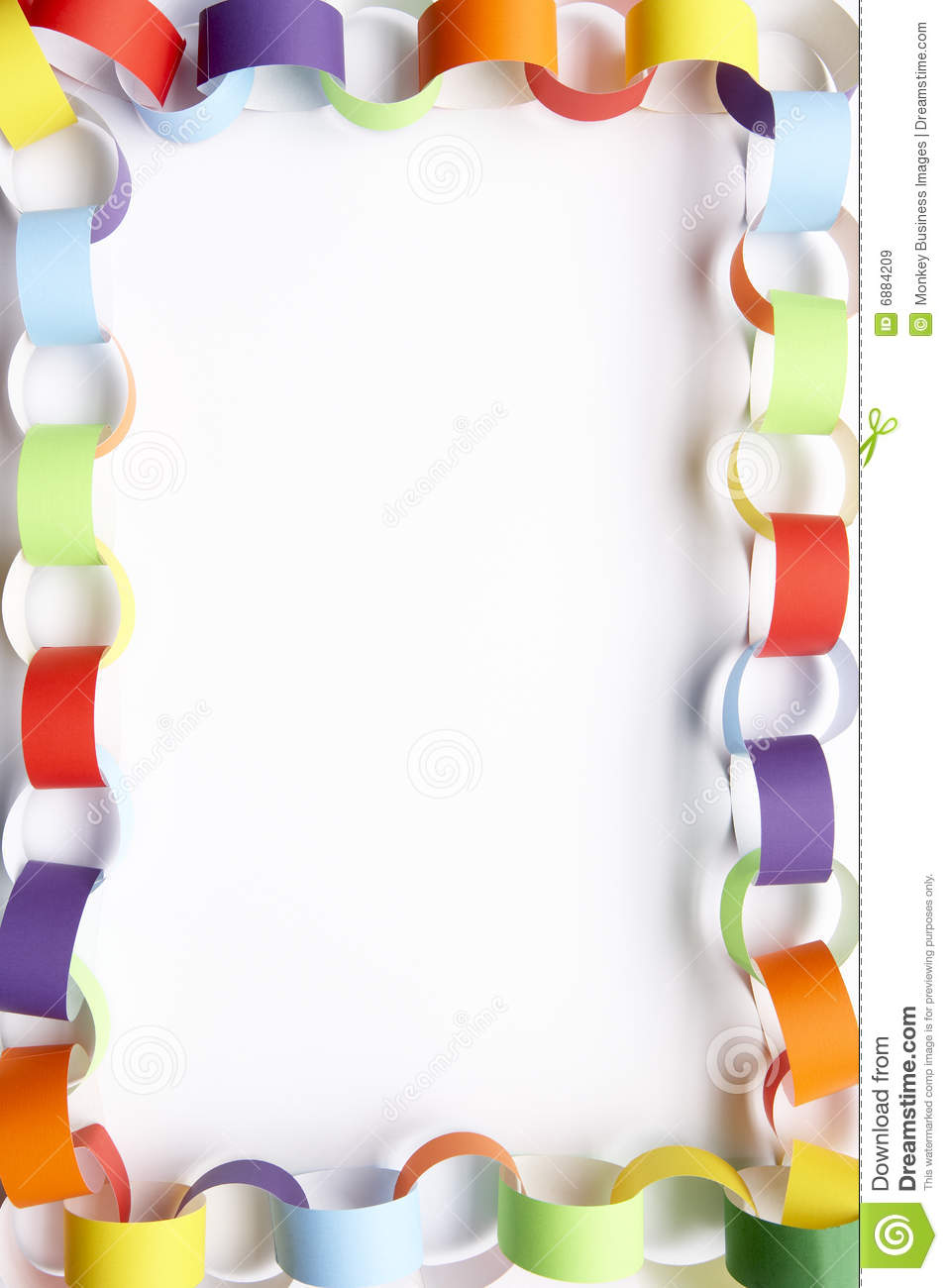 Border Made From Paper Chains Royalty Free Stock Images - Image ...