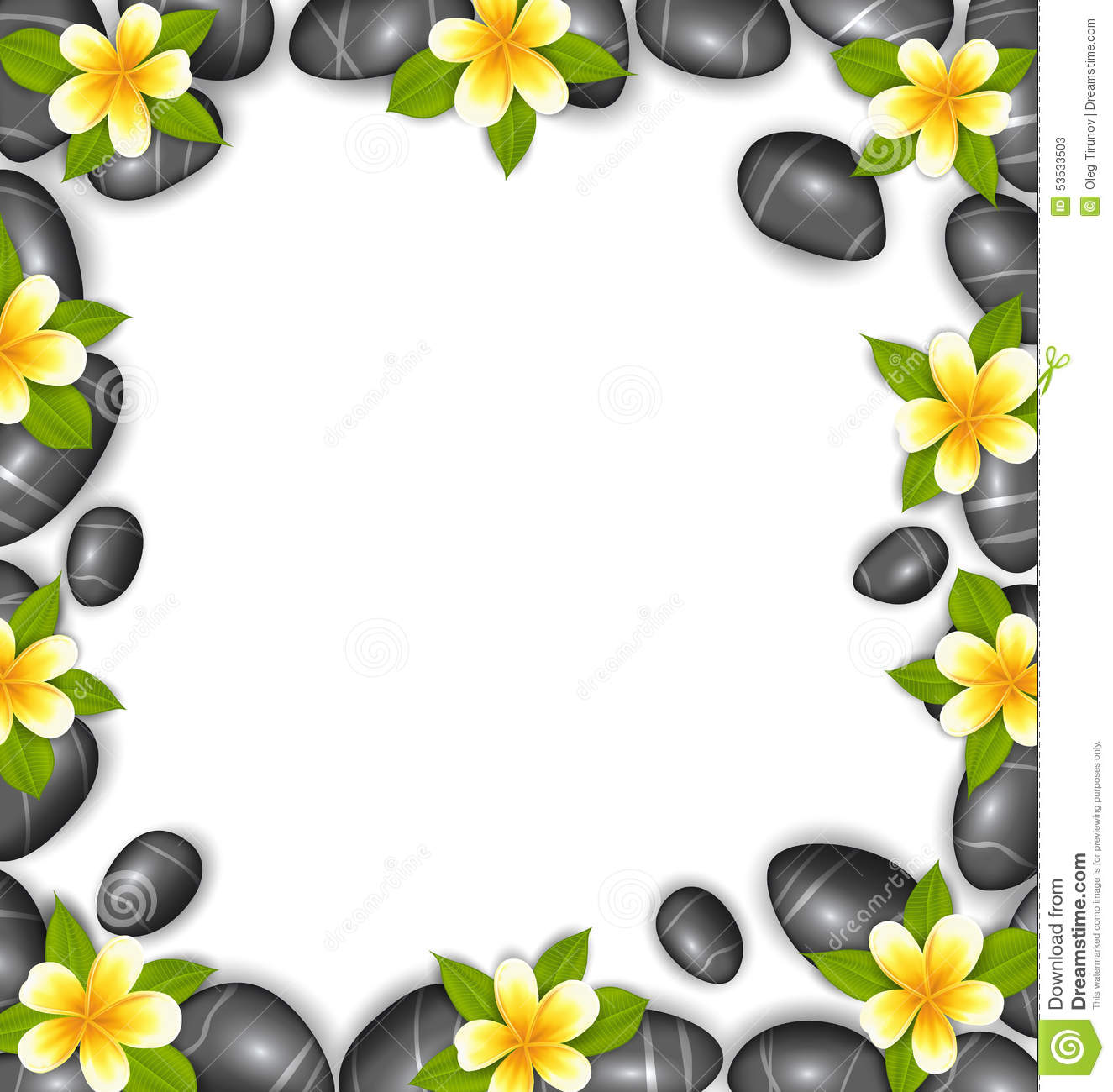 Border made in stones and tropical beautiful flowers stock vector border made in stones and tropical beautiful flowers thecheapjerseys Gallery