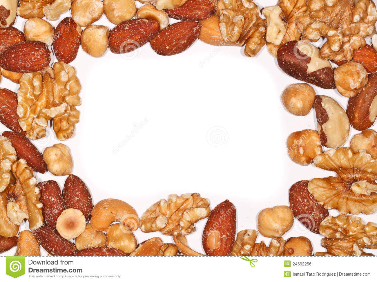 Border of Mixed Nuts stock photo. Image of almonds, border ...